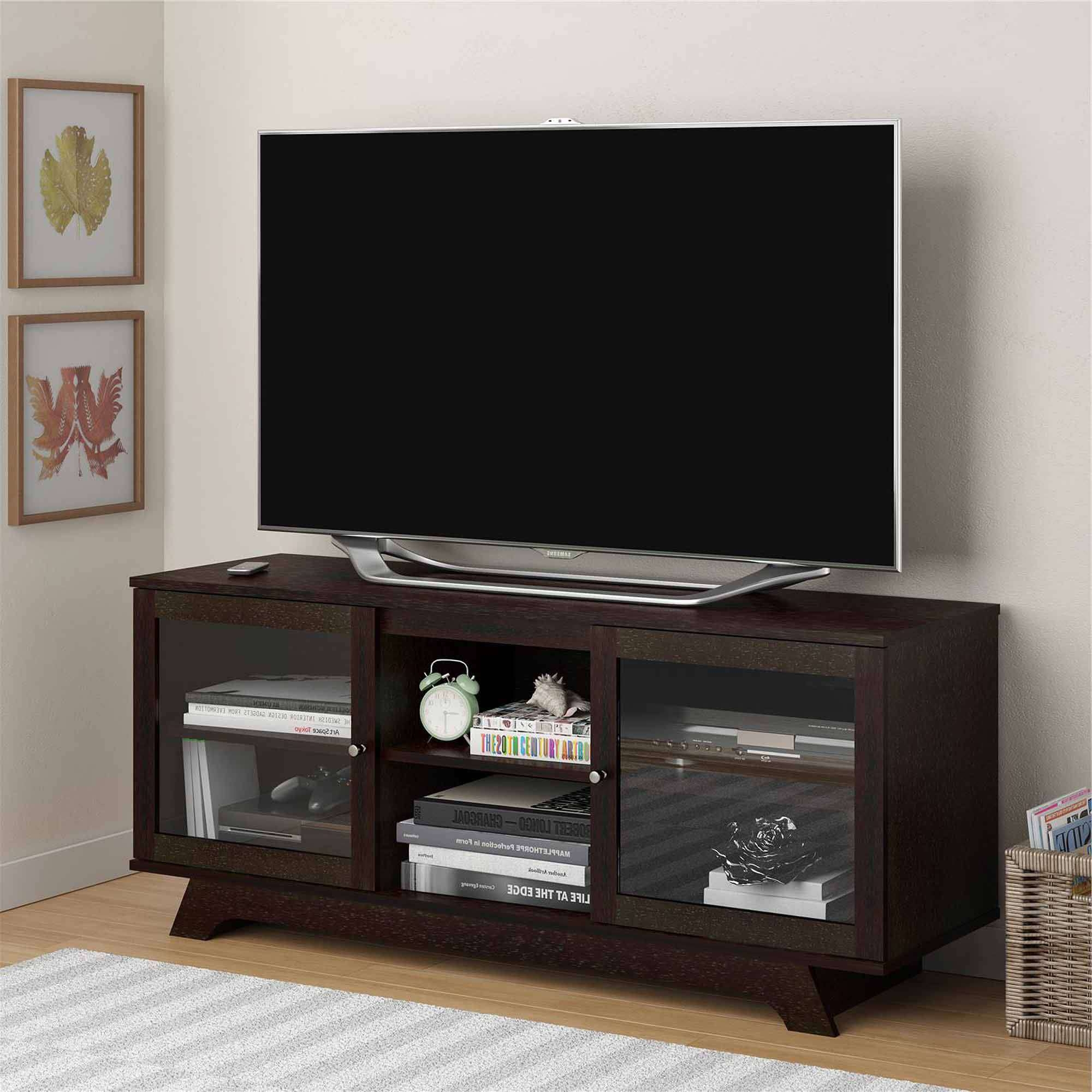 Tv Stands & Entertainment Centers – Walmart With Regard To Wooden Tv Stands For 55 Inch Flat Screen (View 11 of 15)