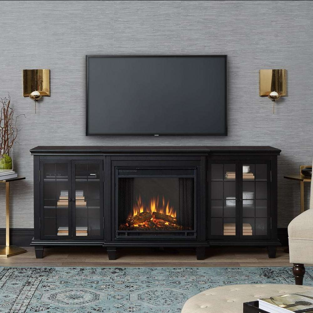 Tv Stands – Living Room Furniture – The Home Depot Pertaining To Single Shelf Tv Stands (View 16 of 20)