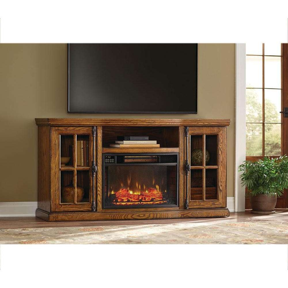 Tv Stands – Living Room Furniture – The Home Depot Throughout Honey Oak Tv Stands (View 2 of 15)