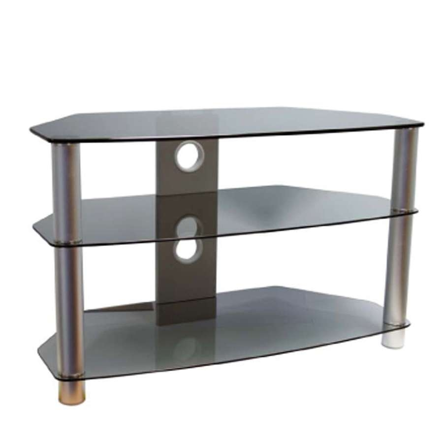 Tv Stands, Tv & Audio Fittings, Electrical, Diy Accessories Within Smoked Glass Tv Stands (View 14 of 15)