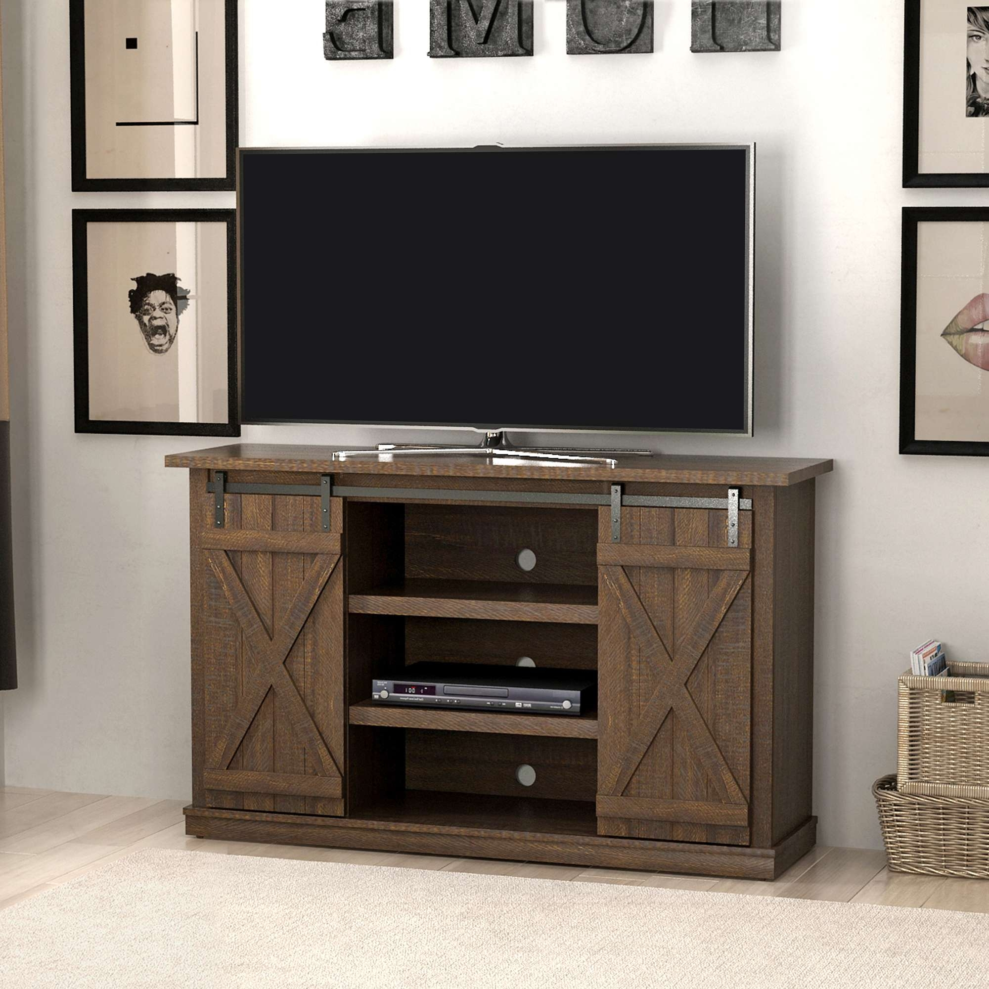 Tv Stands – Walmart Throughout Wooden Tv Stands For 50 Inch Tv (View 10 of 15)