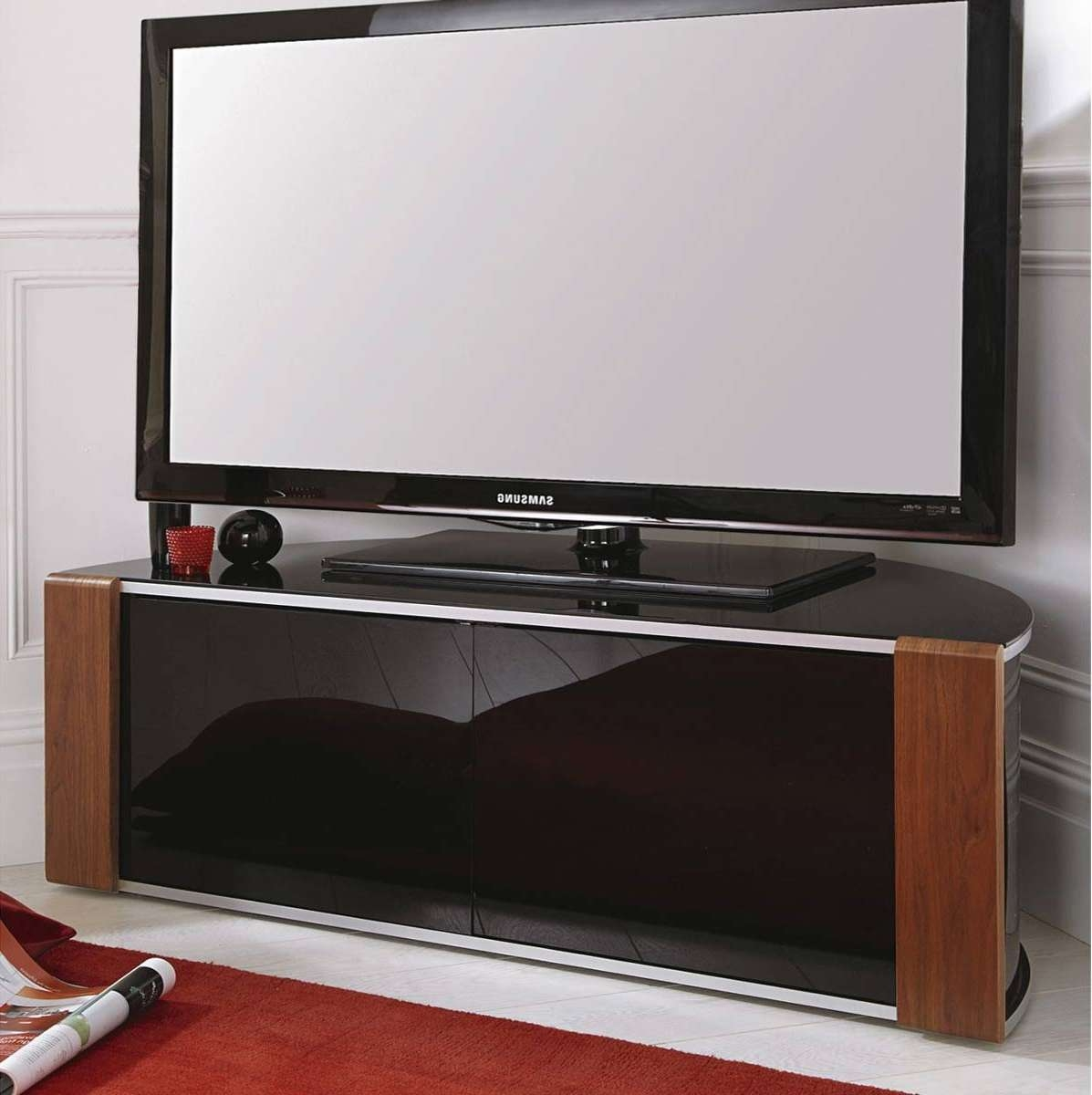 Tv : Stunning Dark Walnut Tv Stands Furniture Interior Wall With Regard To Dark Walnut Tv Stands (View 10 of 15)