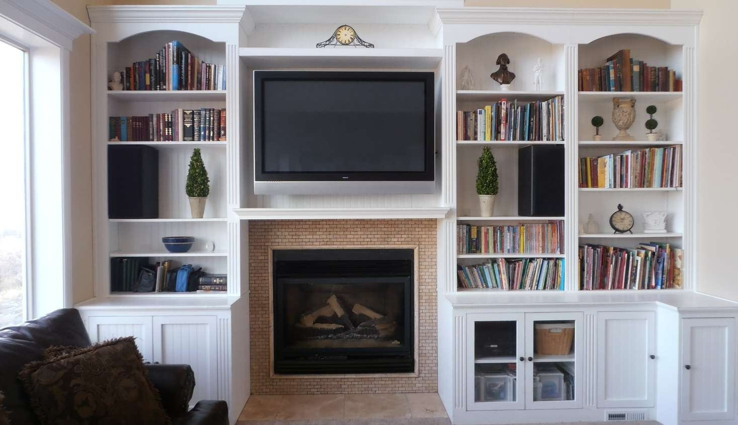 Tv : Surprising Corner Tv Stand With Bookcases Enjoyable Tv Stand For Tv Stands With Matching Bookcases (View 12 of 15)