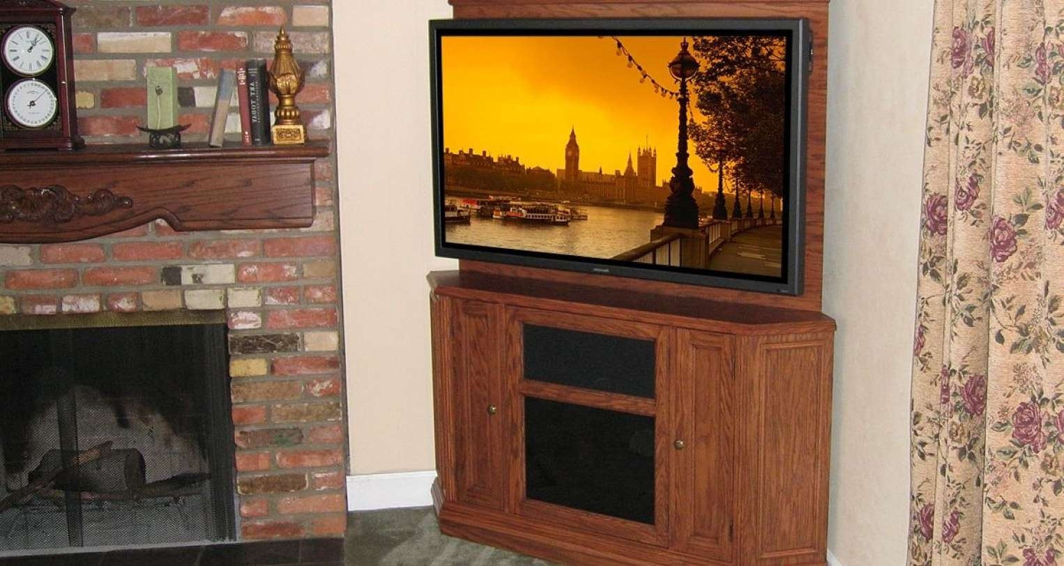 Tv : Tv Stands Corner Tv Stands 55 Inch Flat Screen Flat Screen Tv Inside Oak Corner Tv Stands For Flat Screens (View 13 of 15)