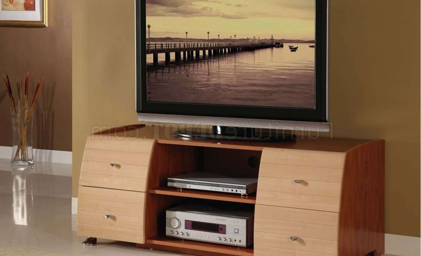 Tv : Tv Stands Outstanding Cherry Tv Stand Design Light Cherry Tv With Light Cherry Tv Stands (View 13 of 15)