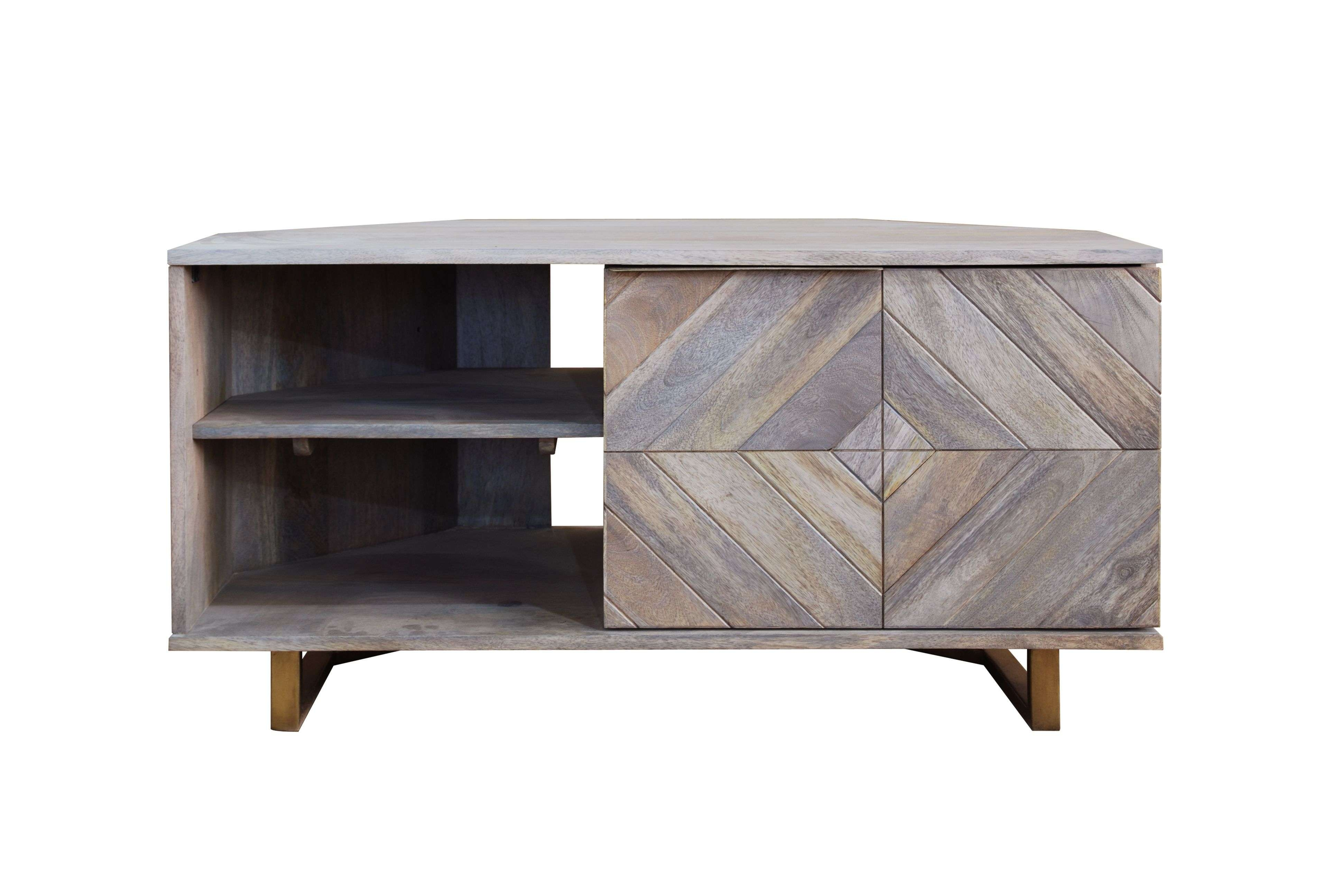 Tv Units – Our Pick Of The Best | Ideal Home Throughout Grey Corner Tv Stands (View 18 of 20)