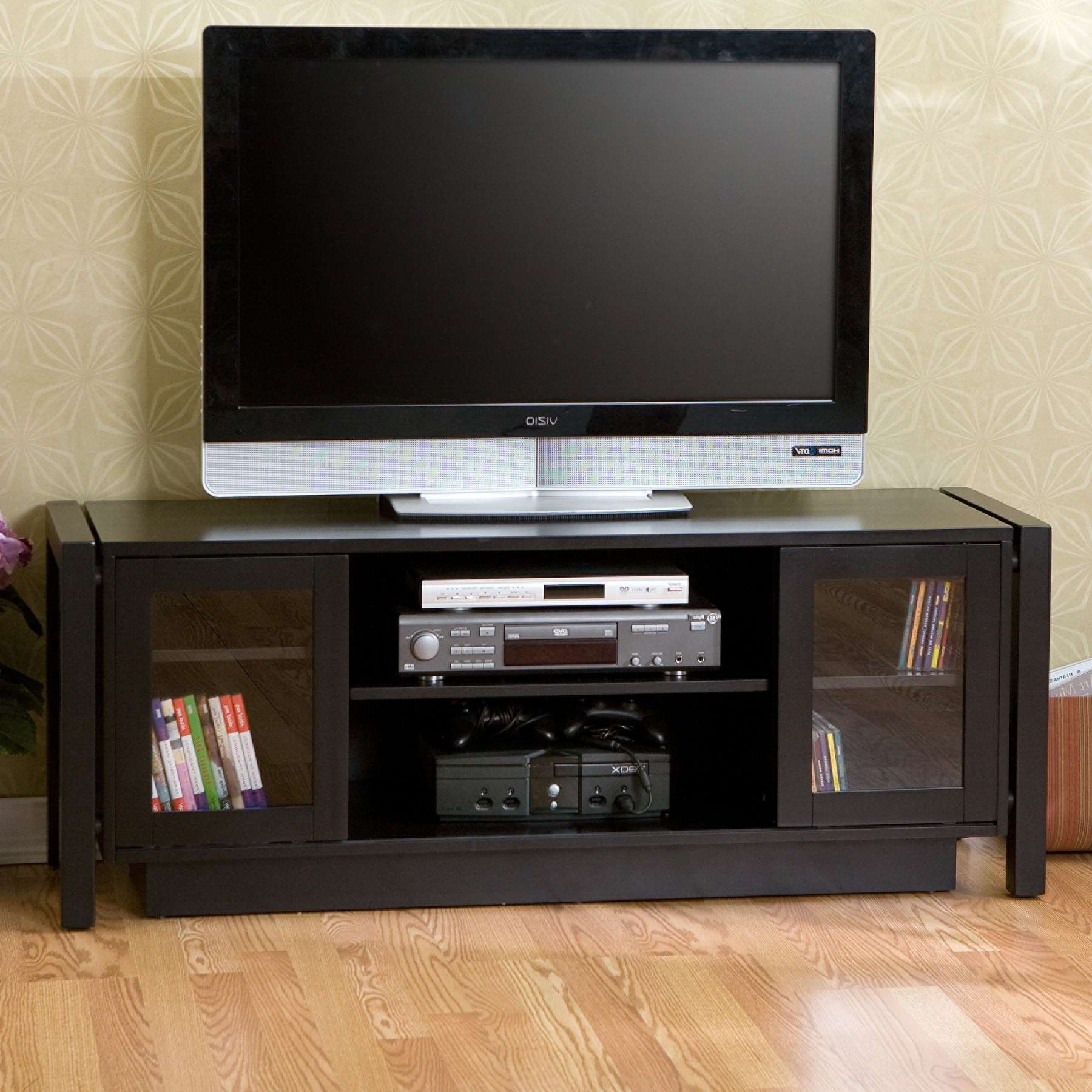 Captivating Tv Units With Glass Doors Choice Image U2013 Doors Design Ideas Throughout  Black Corner Tv Cabinets