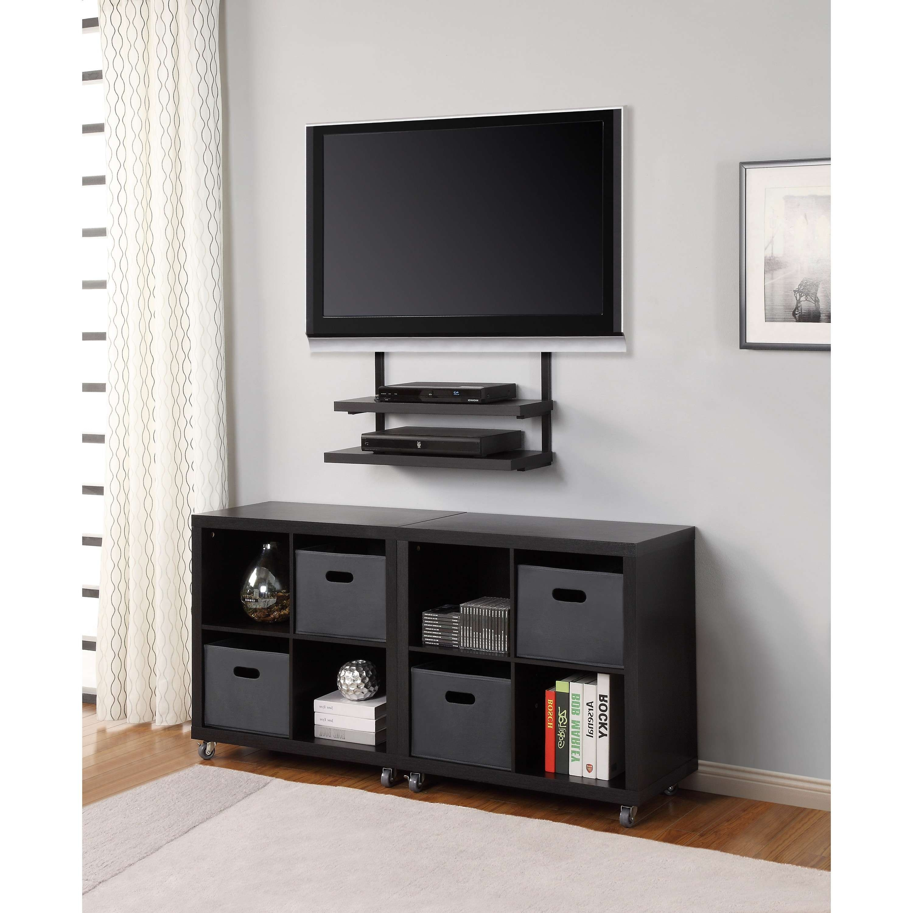Tv Wall Mount Cabinet – Surripui Inside Wall Mounted Tv Stands For Flat Screens (View 7 of 15)
