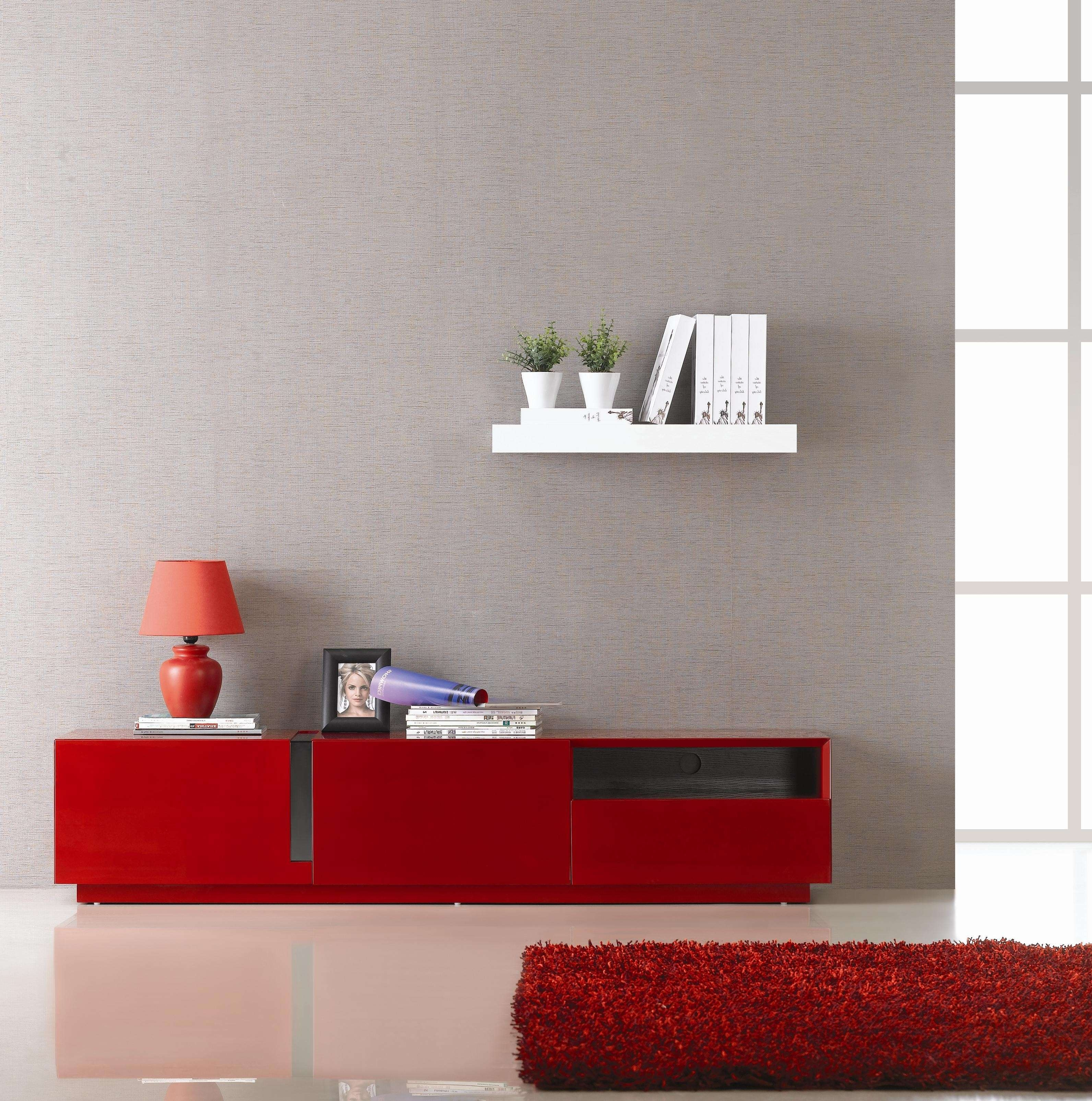 Featured Photo of Red Modern Tv Stands