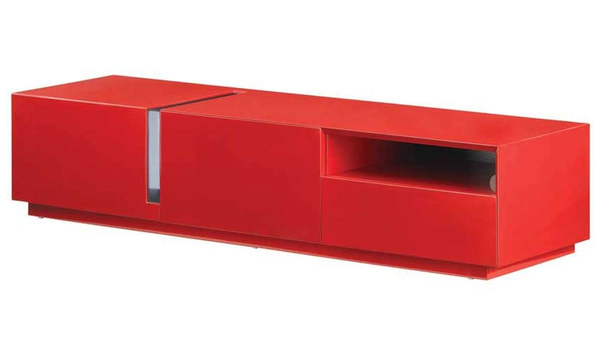 Tv027 Modern Tv Stand In Red High Gloss | Free Shipping | Get Pertaining To Red Tv Stands (View 3 of 15)