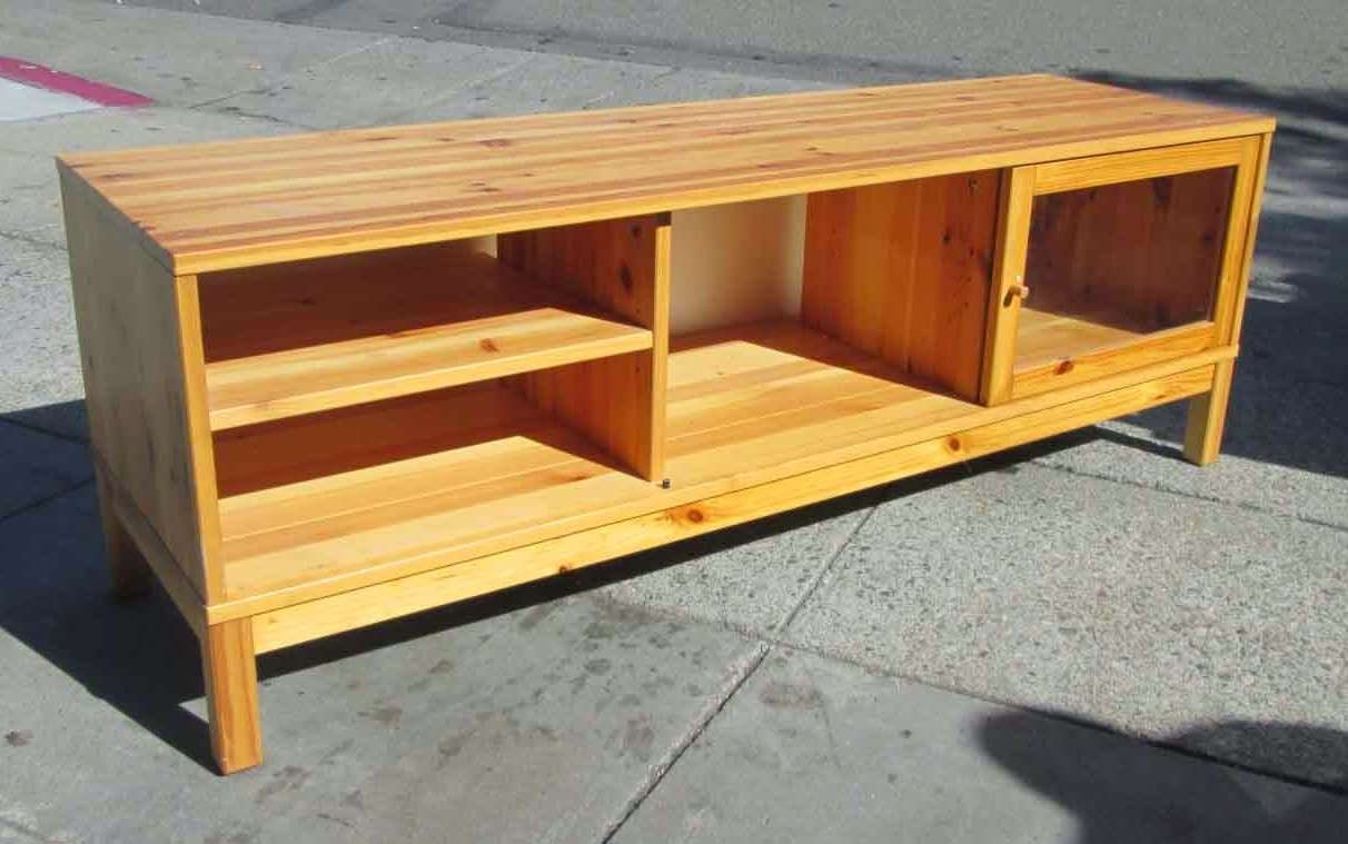 Uhuru Furniture & Collectibles: Sold Ikea Pine Tv Stand – $40 Inside Pine Tv Stands (View 3 of 20)