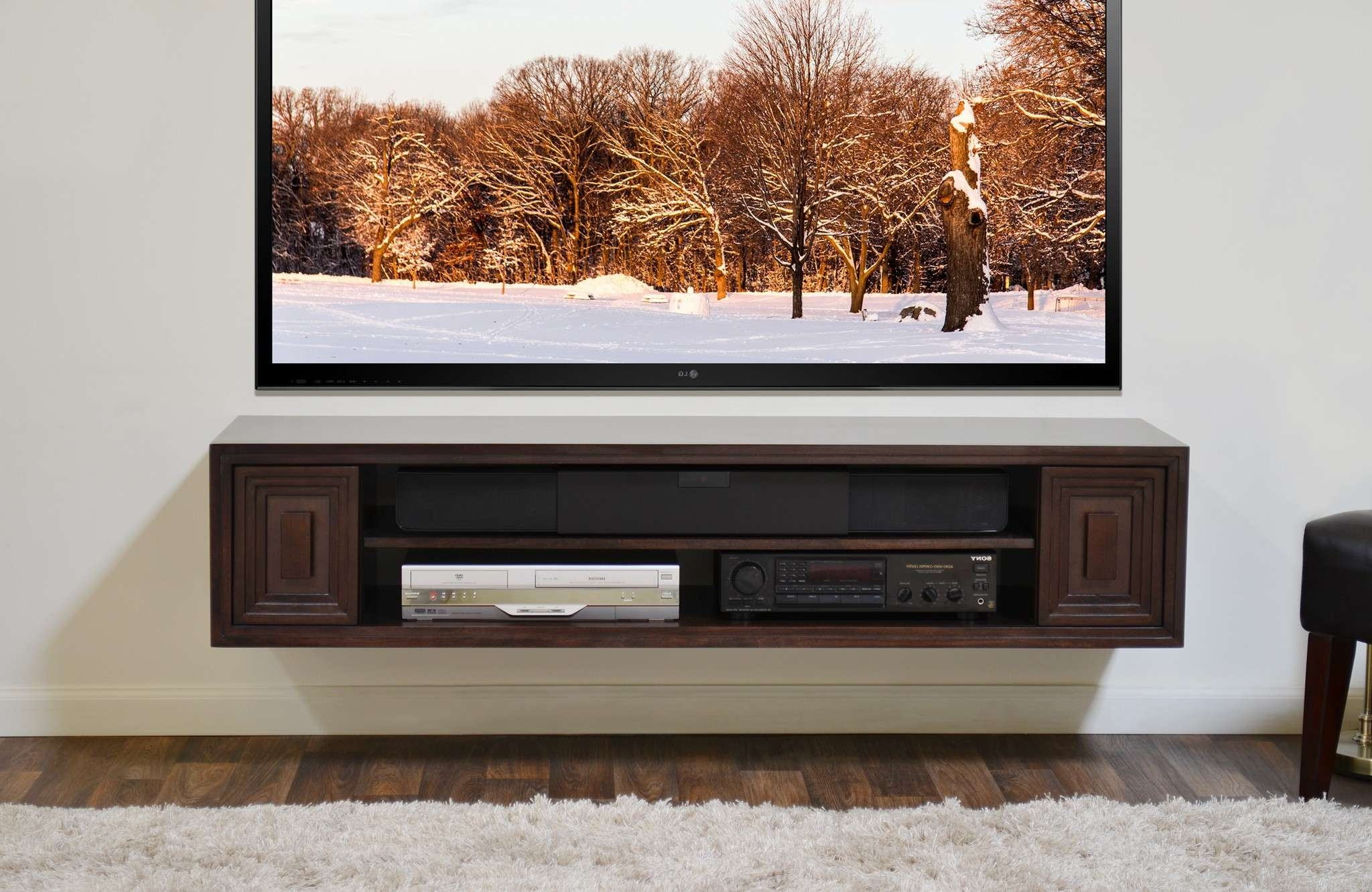 Under Tv Furniture Tags : Amazing Floating Tv Shelves Fabulous Intended For Under Tv Cabinets (View 19 of 20)