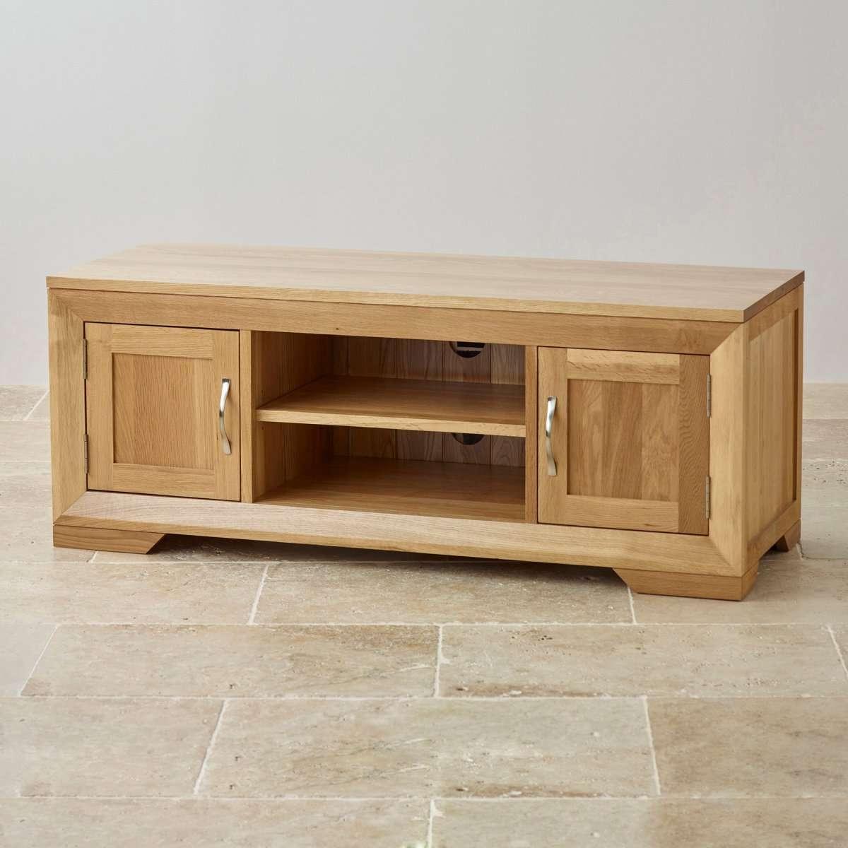 Unfinished Oak Tv Stand : Innovative Designs Oak Tv Console Regarding Cheap Oak Tv Stands (View 13 of 15)