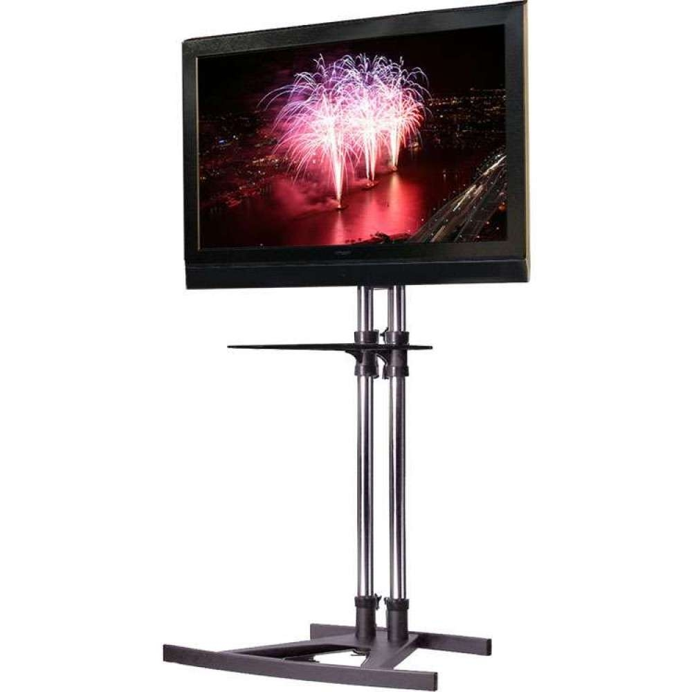 Unicol Vs1000 Freestanding Tv Floor Stand Modern Storage Shelf Pertaining To Freestanding Tv Stands (View 15 of 15)