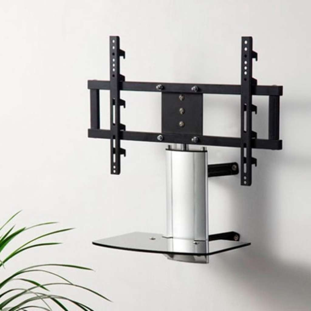 Universal Tabletop Tv Stand With Swivel And Height Adjustable |tv Throughout Wall Mount Adjustable Tv Stands (View 11 of 20)
