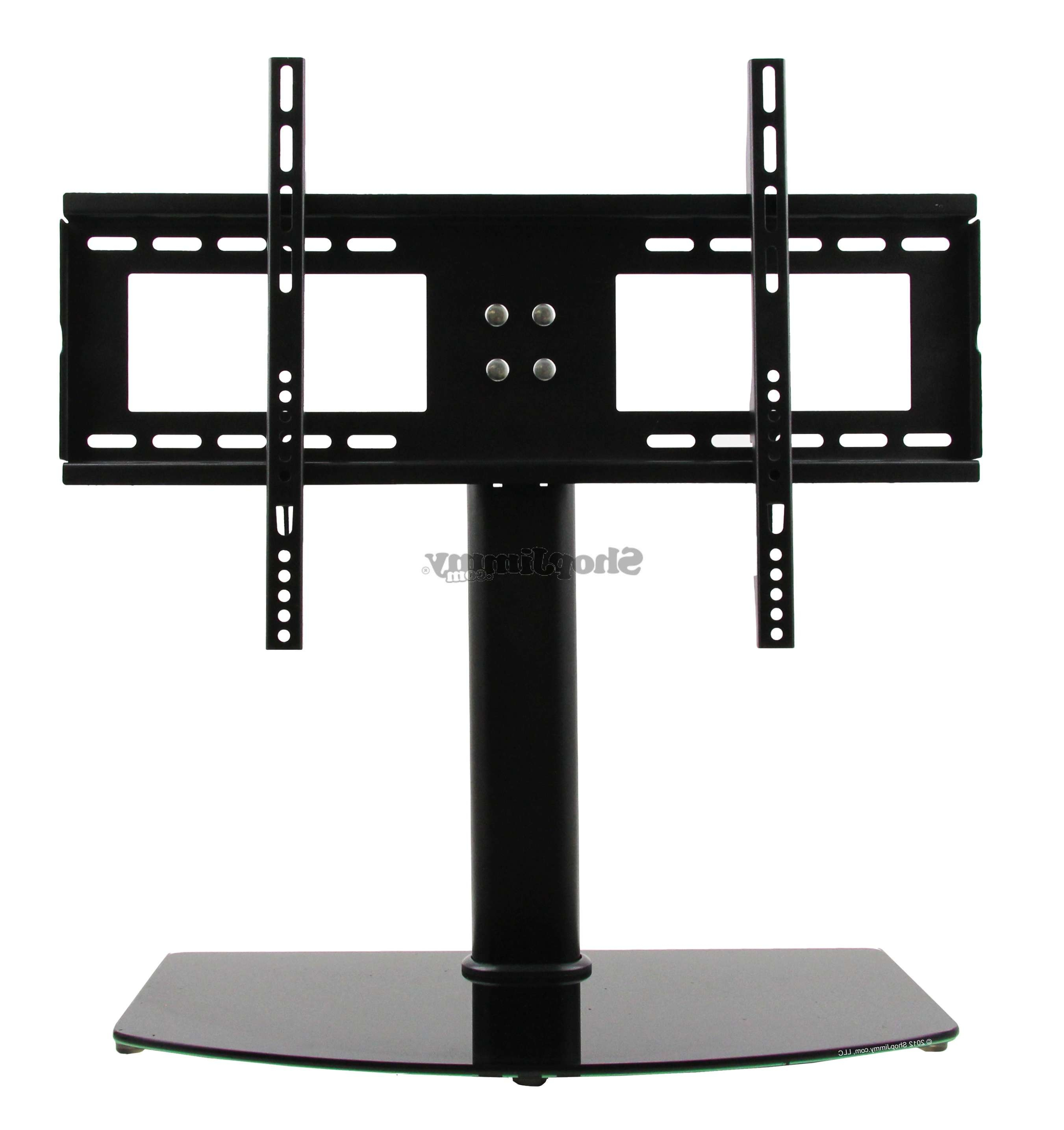 "Universal Tv Stand/base + Wall Mount For 37"" 55"" Flat Screen Tvs In Tabletop Tv Stands (View 4 of 15)"