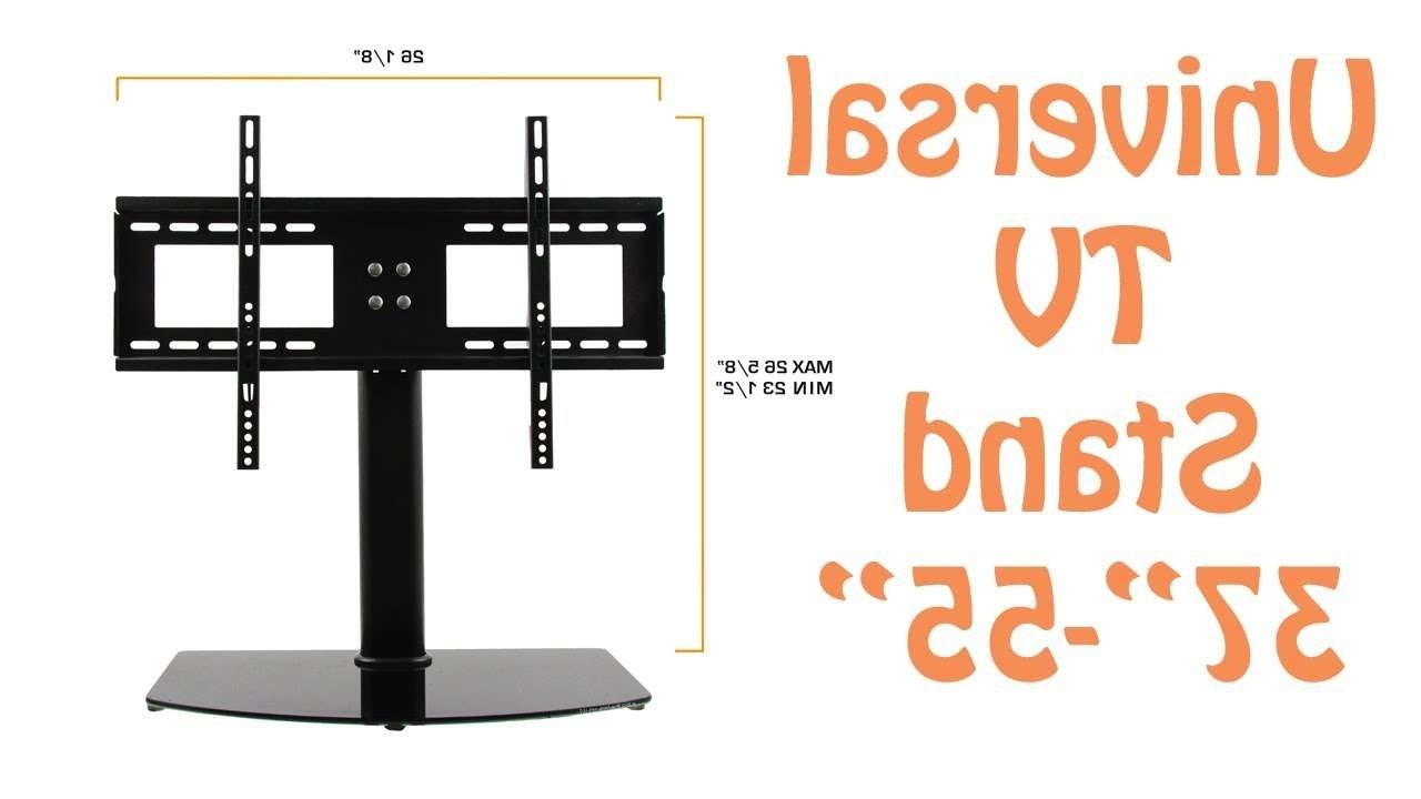 "Universal Tv Stand & Tv Wall Mount Combo For 37"" – 55"" Lcd/led For Universal Flat Screen Tv Stands (View 12 of 20)"