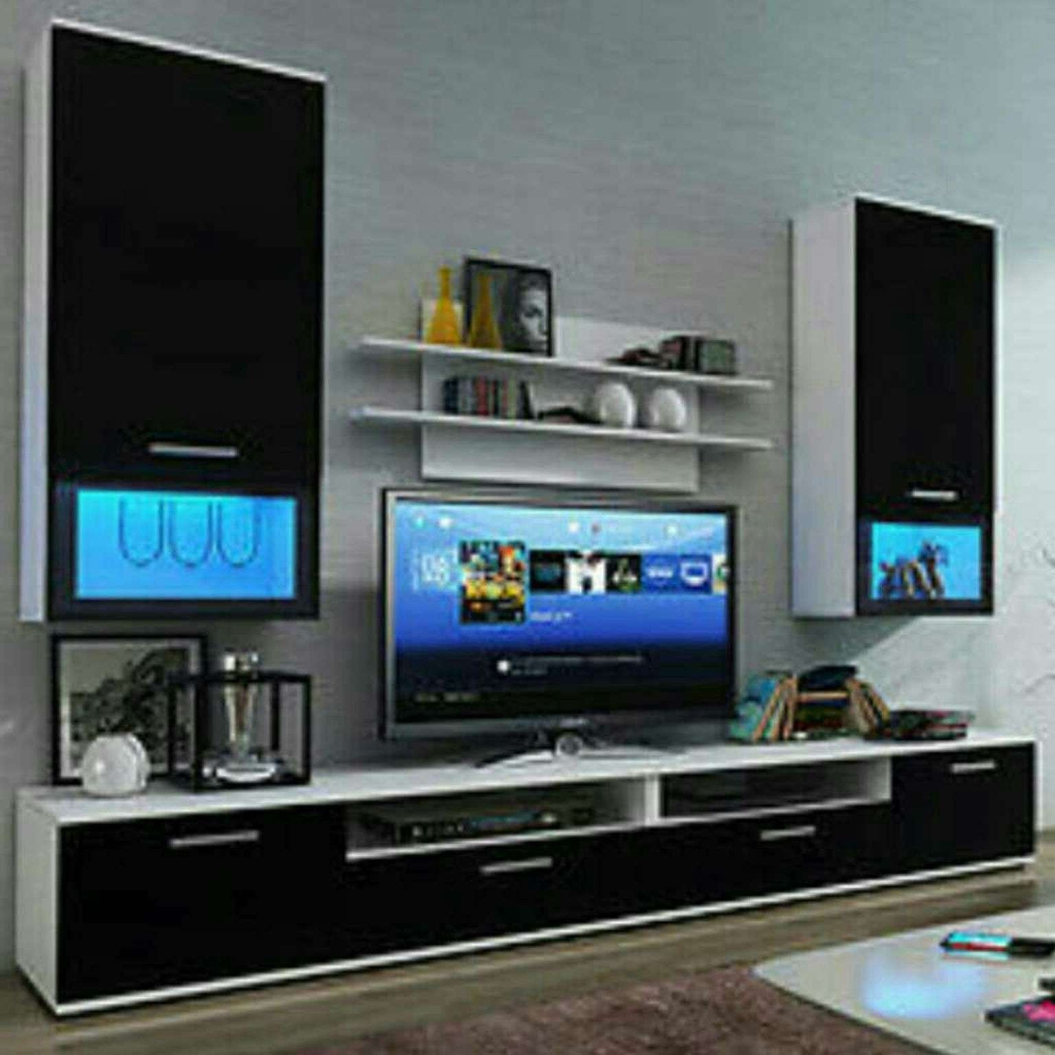 Used Wall Unit Furniture Tv Stand Led Lights In Nw1 London For Pertaining To Tv Stands With Led Lights (View 14 of 15)