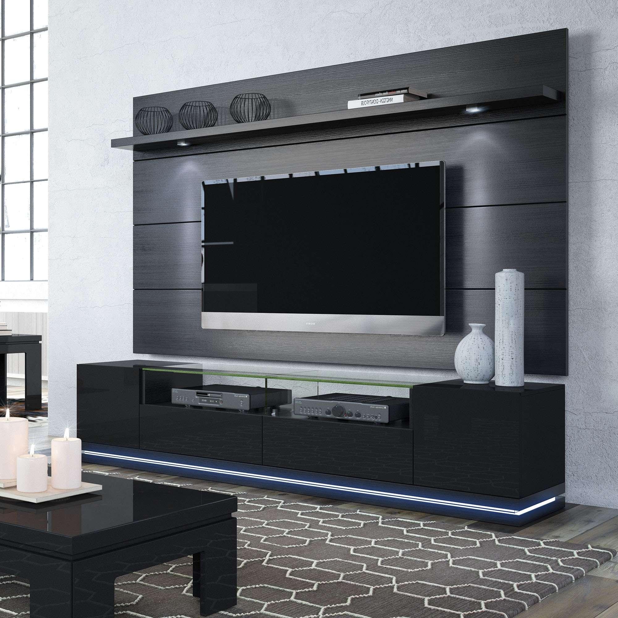 Vanderbilt Black Gloss & Black Matte Tv Stand & Cabrini (View 13 of 20)