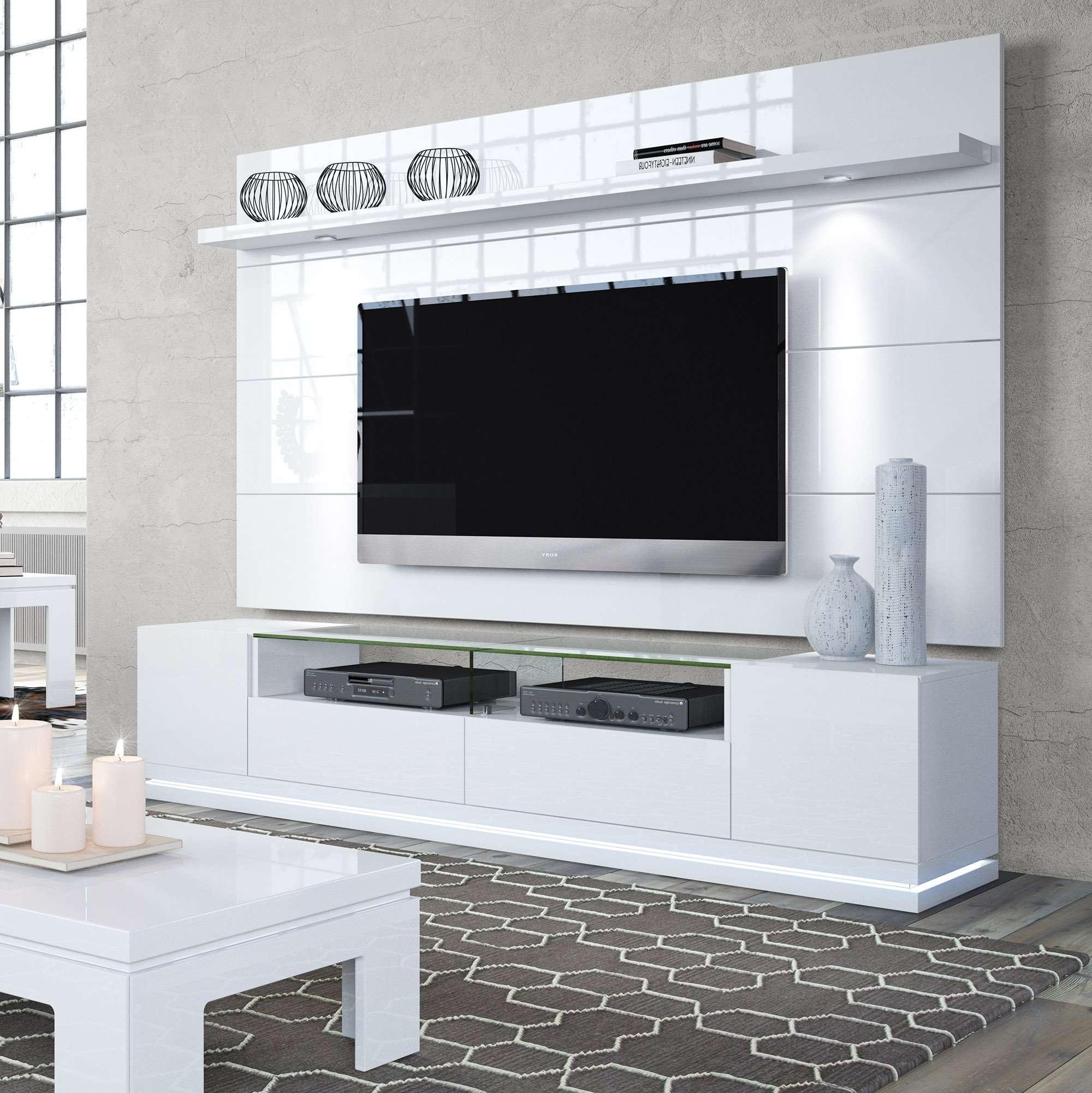 Vanderbilt White Gloss Tv Stand & Cabrini (View 11 of 20)