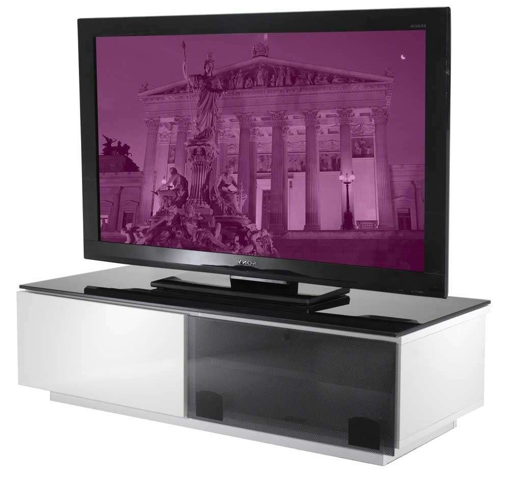 Vienna High Gloss Black & White Tv Stand With Regard To Black Gloss Tv Stands (Gallery 17 of 20)