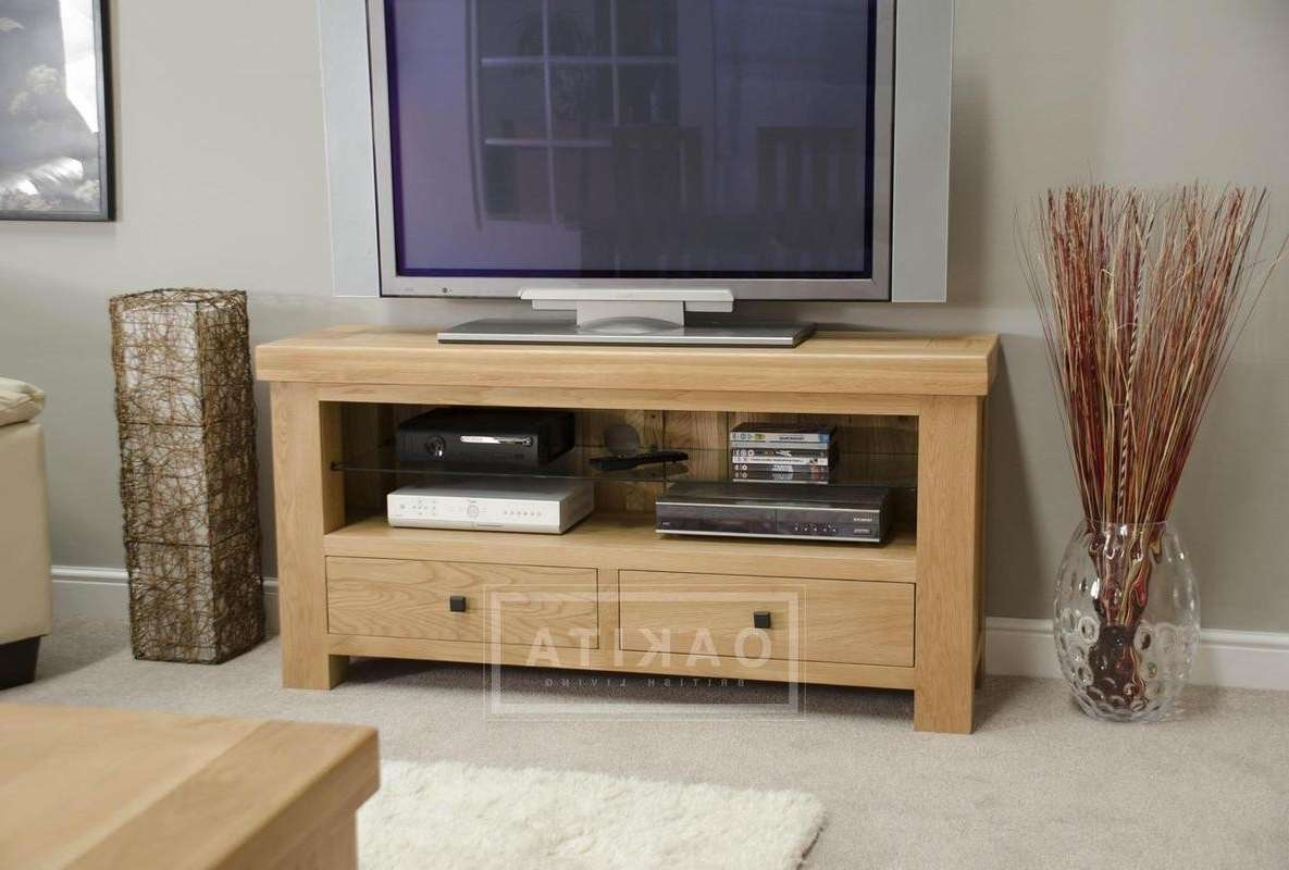 Vienna Light Oak Tv Cabinet – Oak Tv Stands & Entertainment With Regard To Oak Furniture Tv Stands (View 17 of 20)