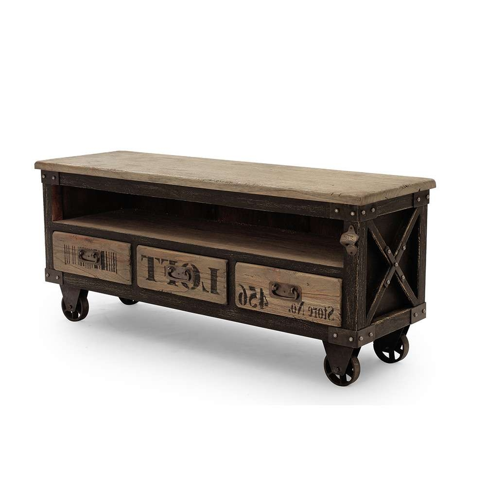 Vintage Industrial Tv Stand | Home Design Ideas Within Vintage Industrial Tv Stands (View 10 of 15)