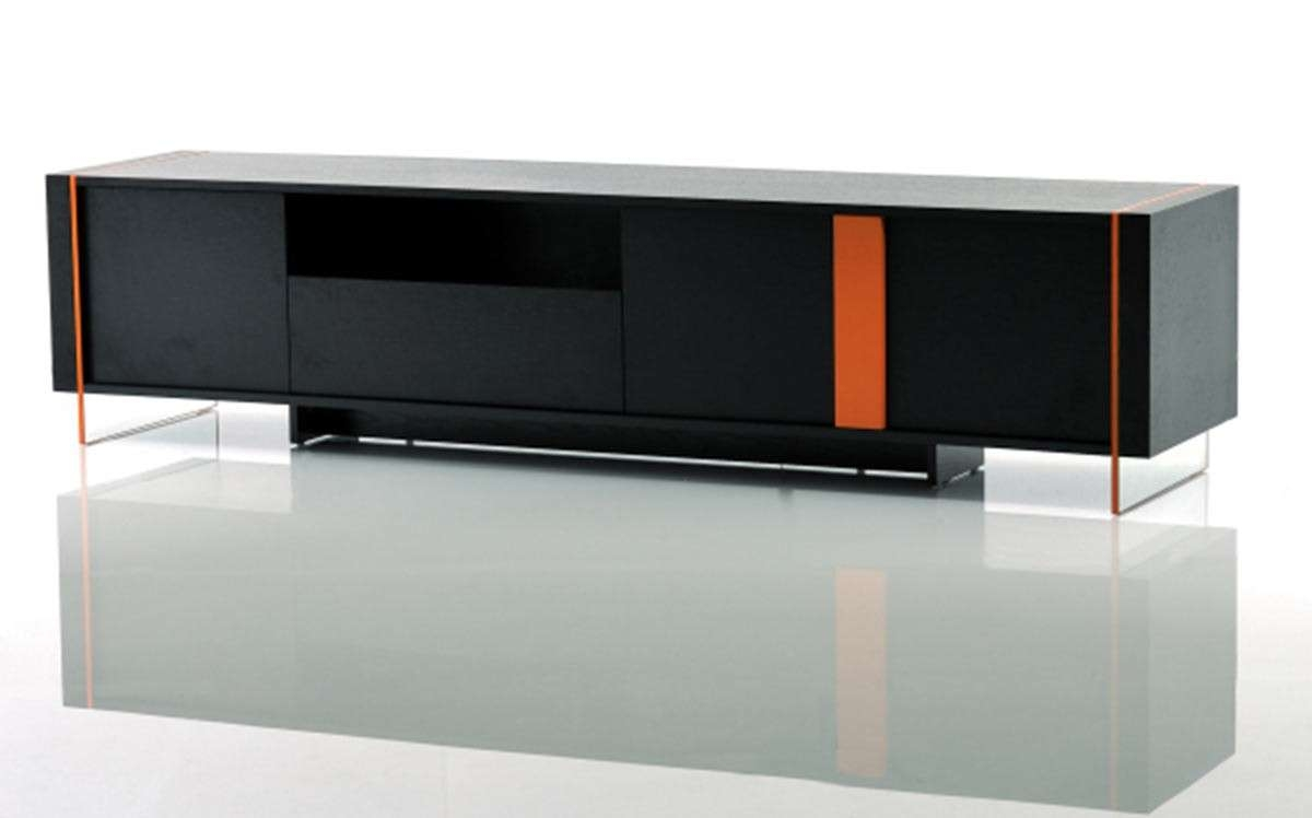 Vision – Modern Black Oak Floating Tv Stand For Modern Black Tv Stands (Gallery 3 of 20)