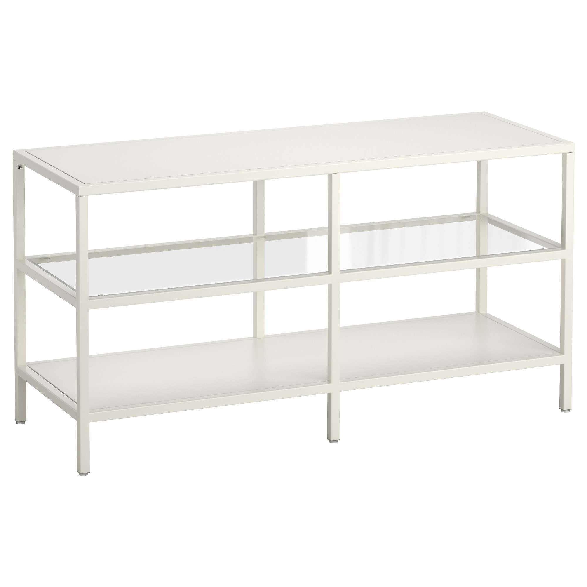 Vittsjö Tv Unit – White/glass – Ikea In White Glass Tv Stands (Gallery 15 of 15)