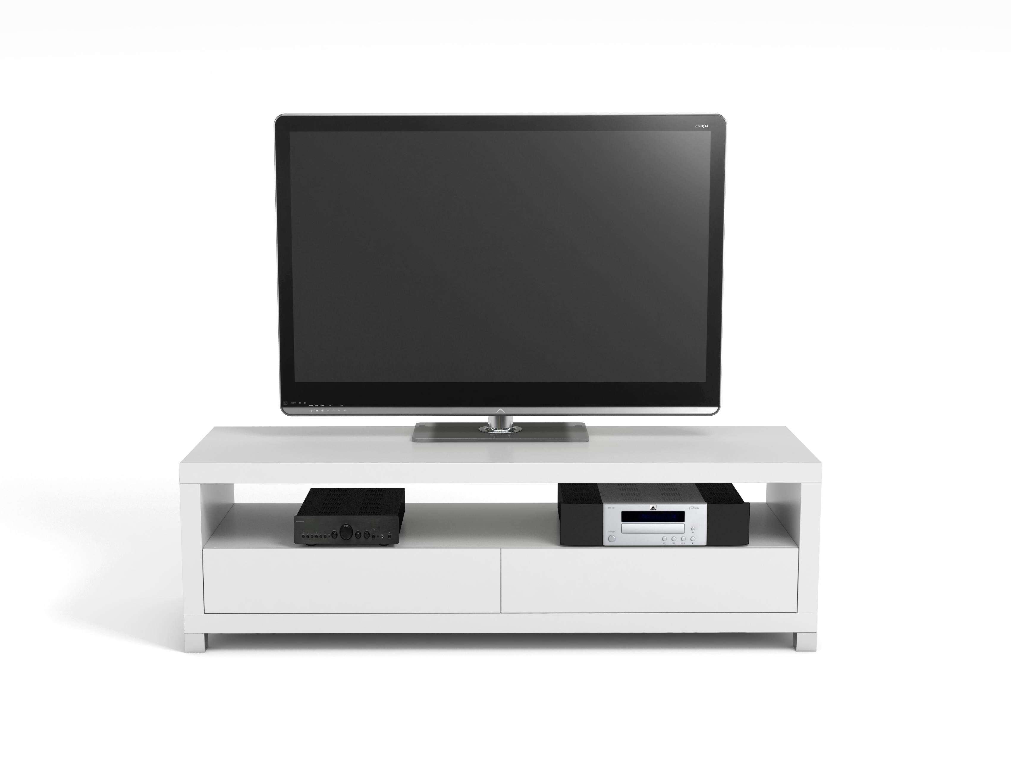 Vivanco D1200Gb 120Cm Designer Tv Stand White | Hbh Woolacotts Regarding Tv Stands 100Cm (View 15 of 15)