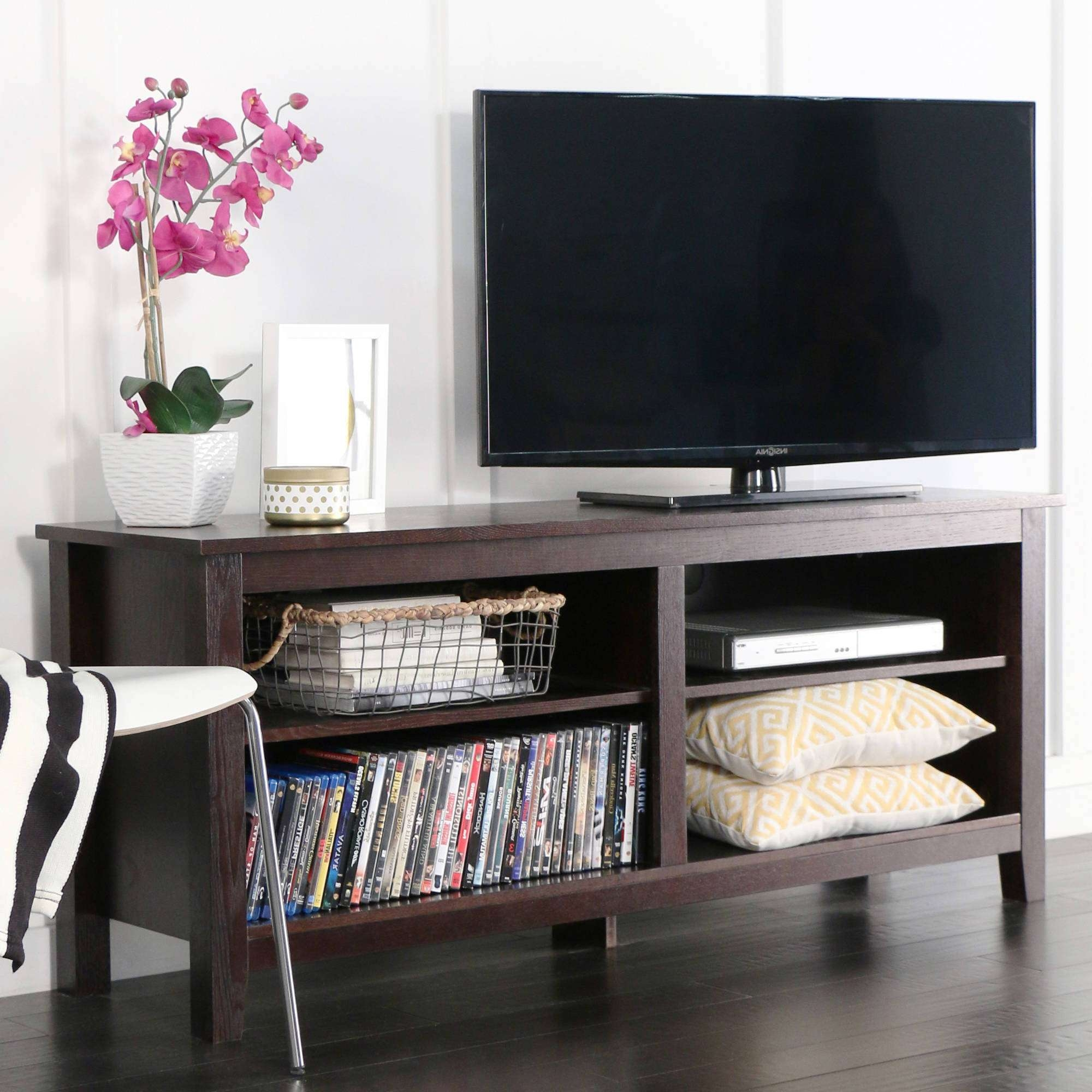 "Walker Edison Reclaimed Wood Tv Stand For Tvs Up To 70"", Multiple Throughout Dark Wood Tv Stands (View 15 of 15)"