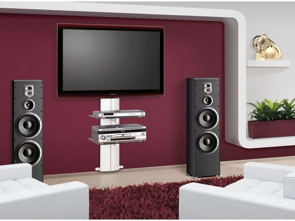 Genial Wall Mount Tv Stand Never Die U2013 Midcityeast Throughout White Wall Mounted  Tv Stands (Gallery