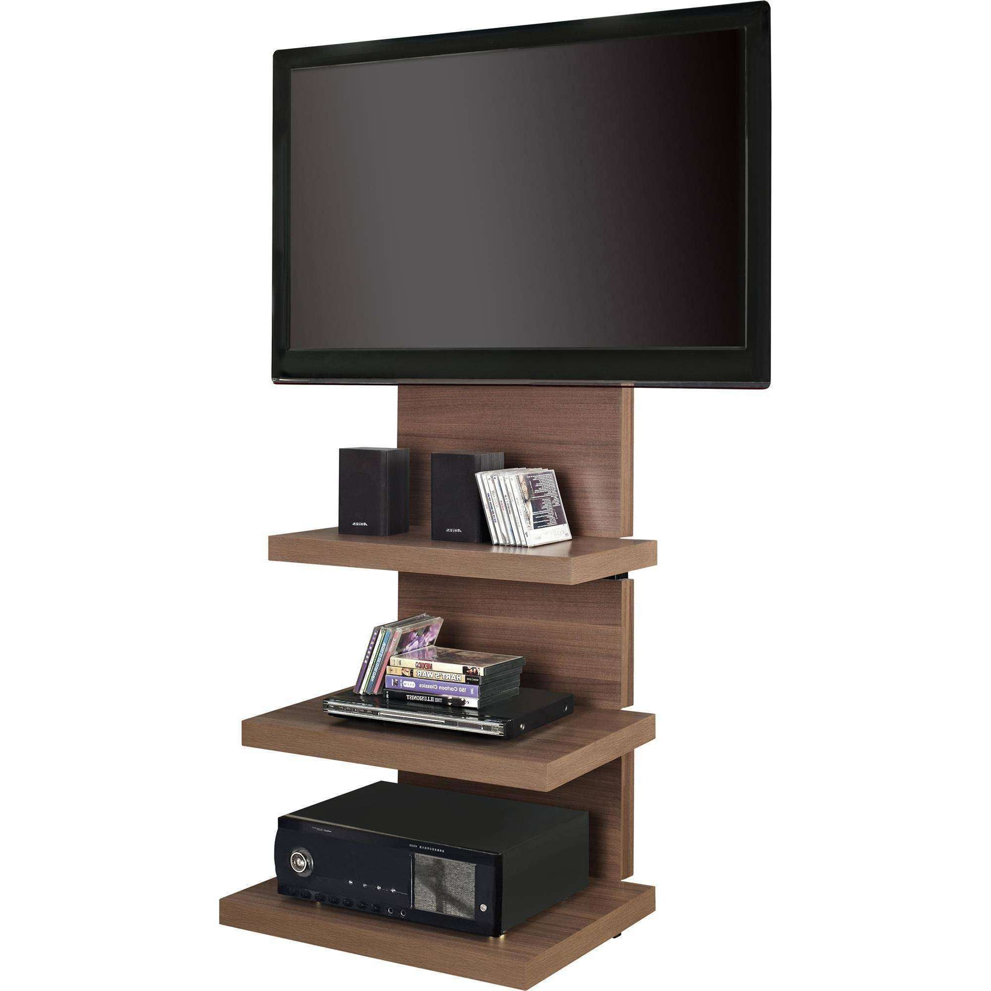Wall Shelves Design: Wall Mount Tv Stand With Shelves Soundbar With Bracketed Tv Stands (View 6 of 15)
