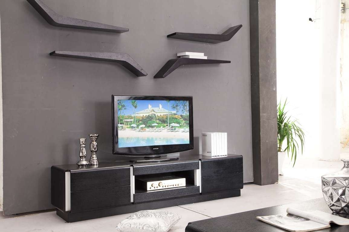 Wall Tv Cabinet Storage Small Space Flat Design Ideas Lovely Tv Inside Tv Stands For Small Spaces (View 14 of 15)