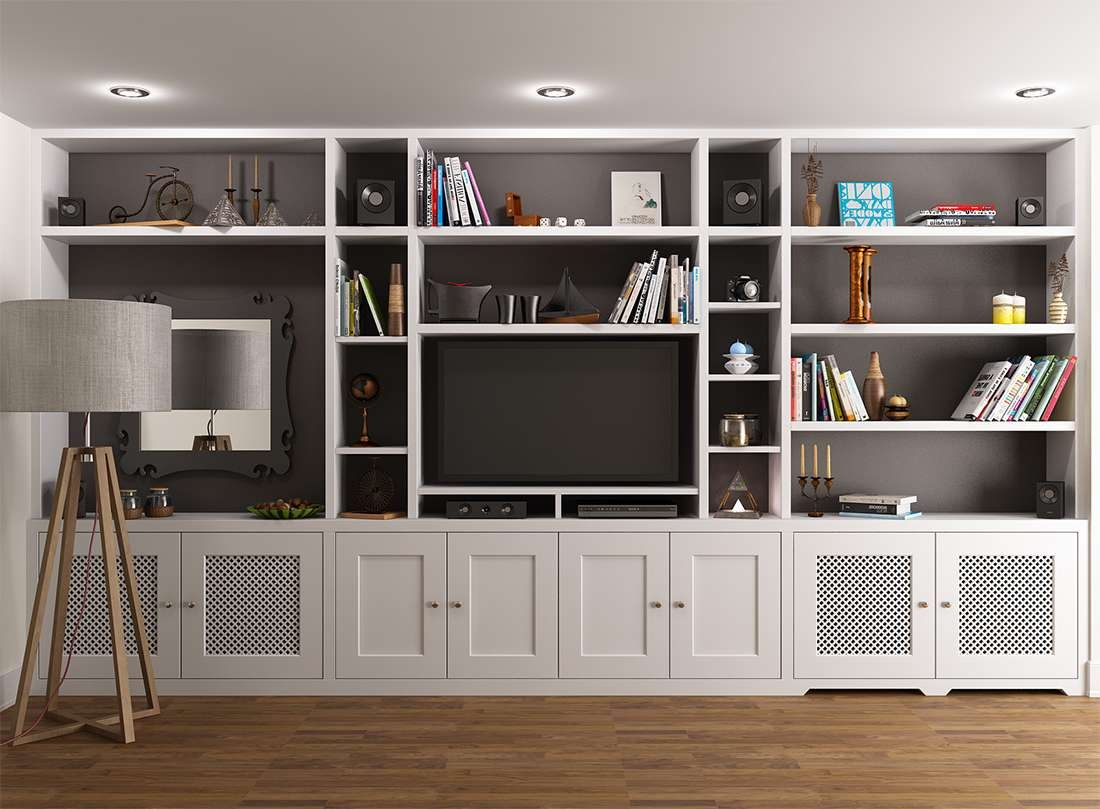 Wall Units: Amazing Tv Cabinet And Bookcase Tv Cabinet With Doors Throughout Tv Stands With Bookcases (View 6 of 15)