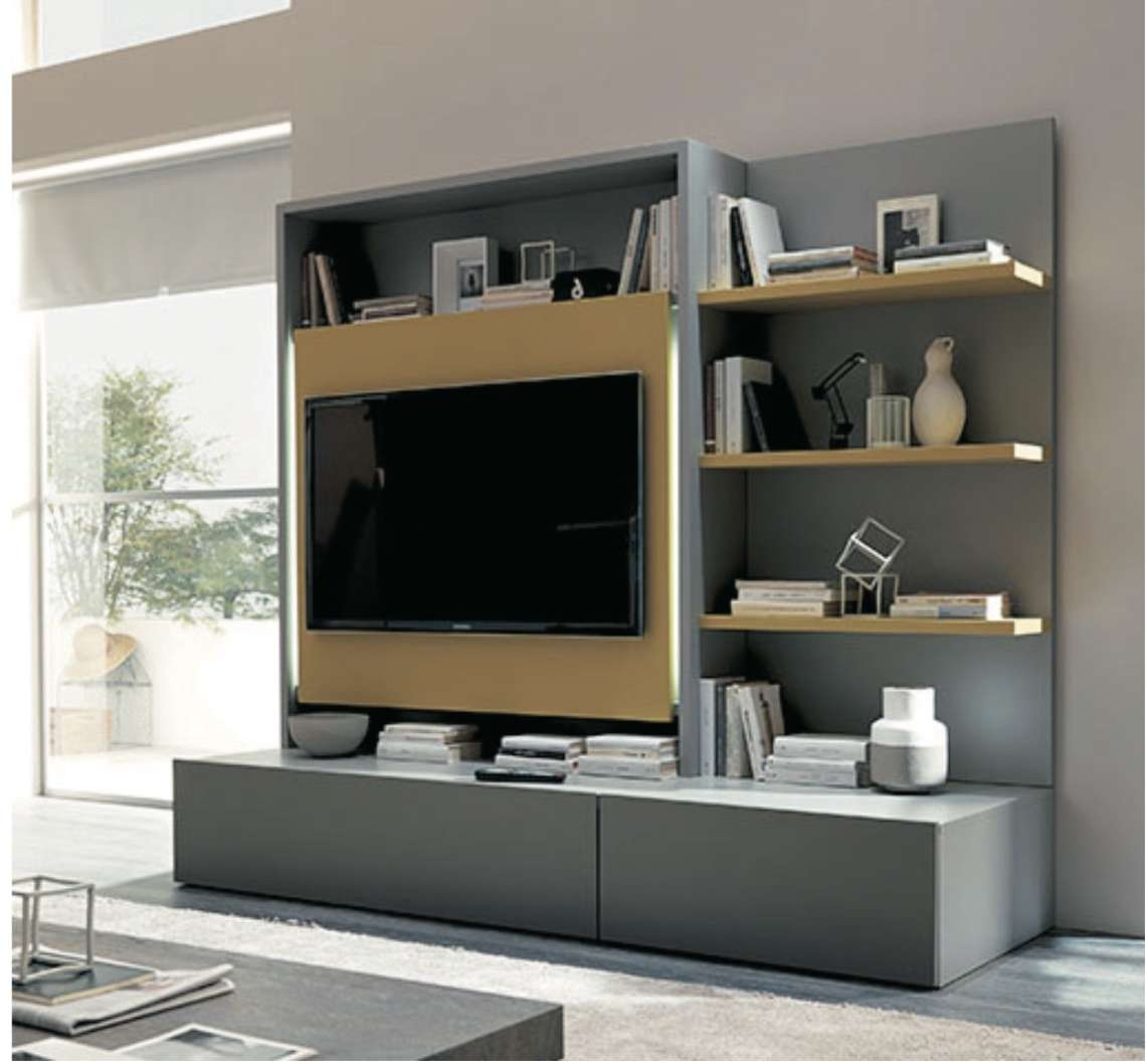 Wall Units: Marvellous Entertainment Wall System Sauder Tv Stand With Regard To Modular Tv Stands Furniture (View 6 of 15)