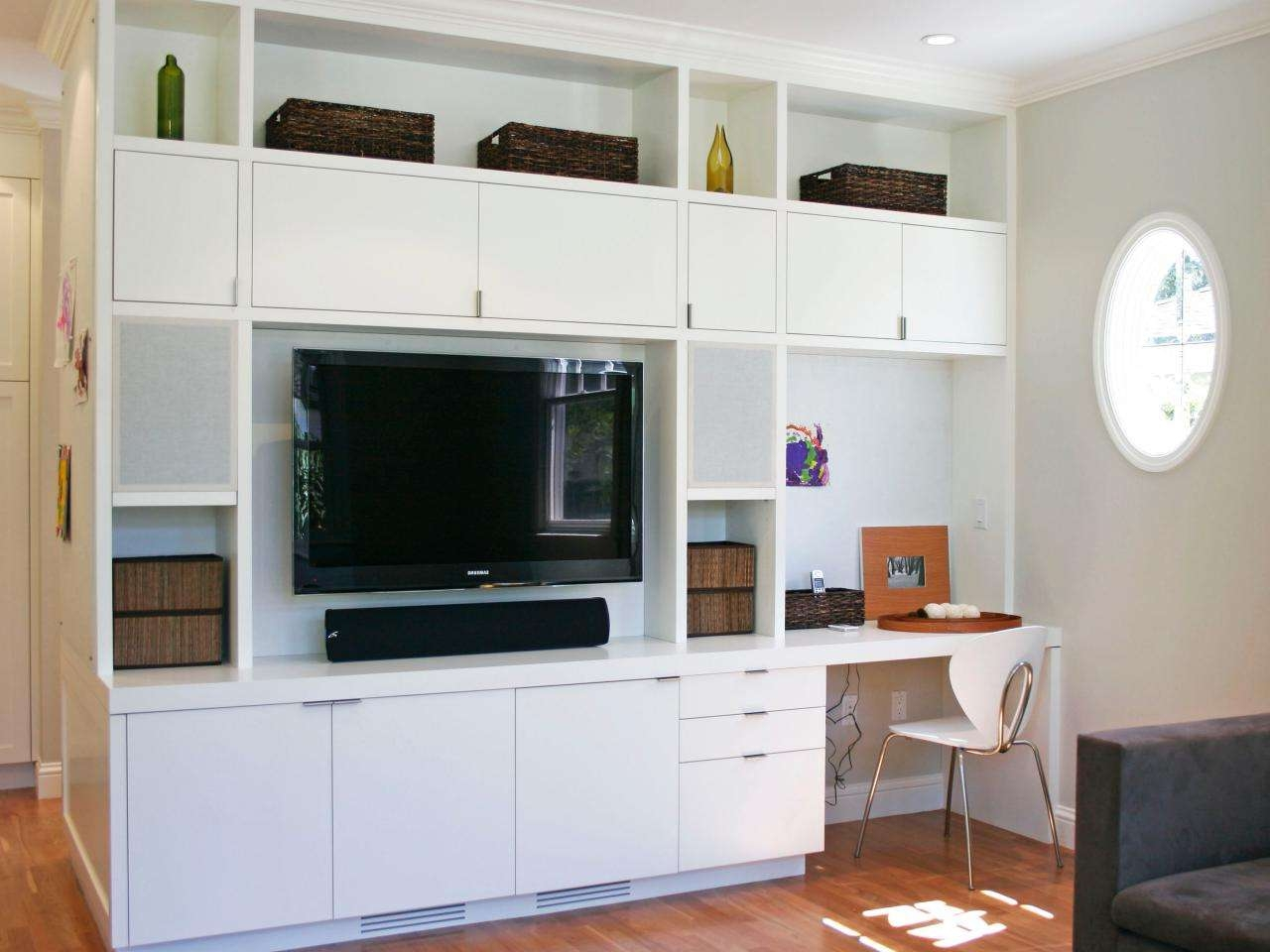 Wall Units: Outstanding Entertainment Center Desk Bookcase For Tv Stands And Computer Desk Combo (View 7 of 15)