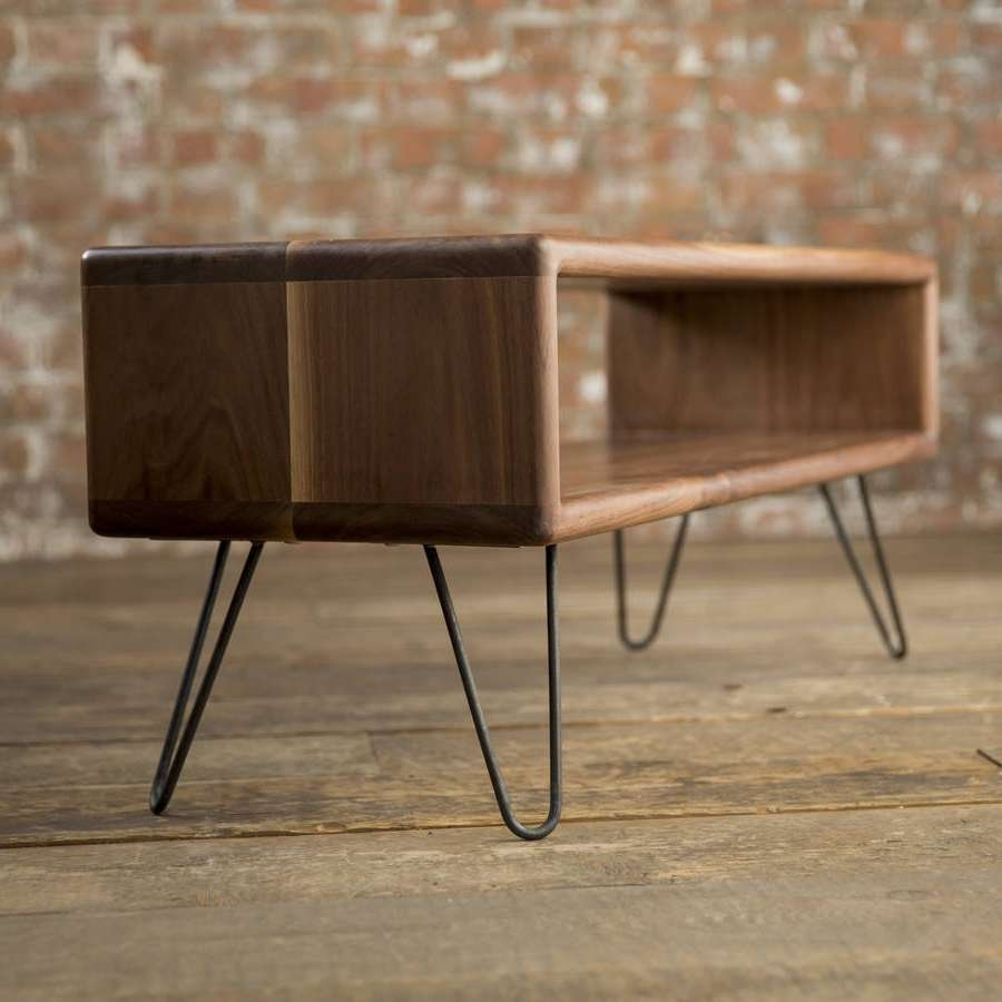 Walnut Midcentury Modern Hairpin Leg Tv Standbiggs & Quail Inside Hairpin Leg Tv Stands (View 3 of 15)