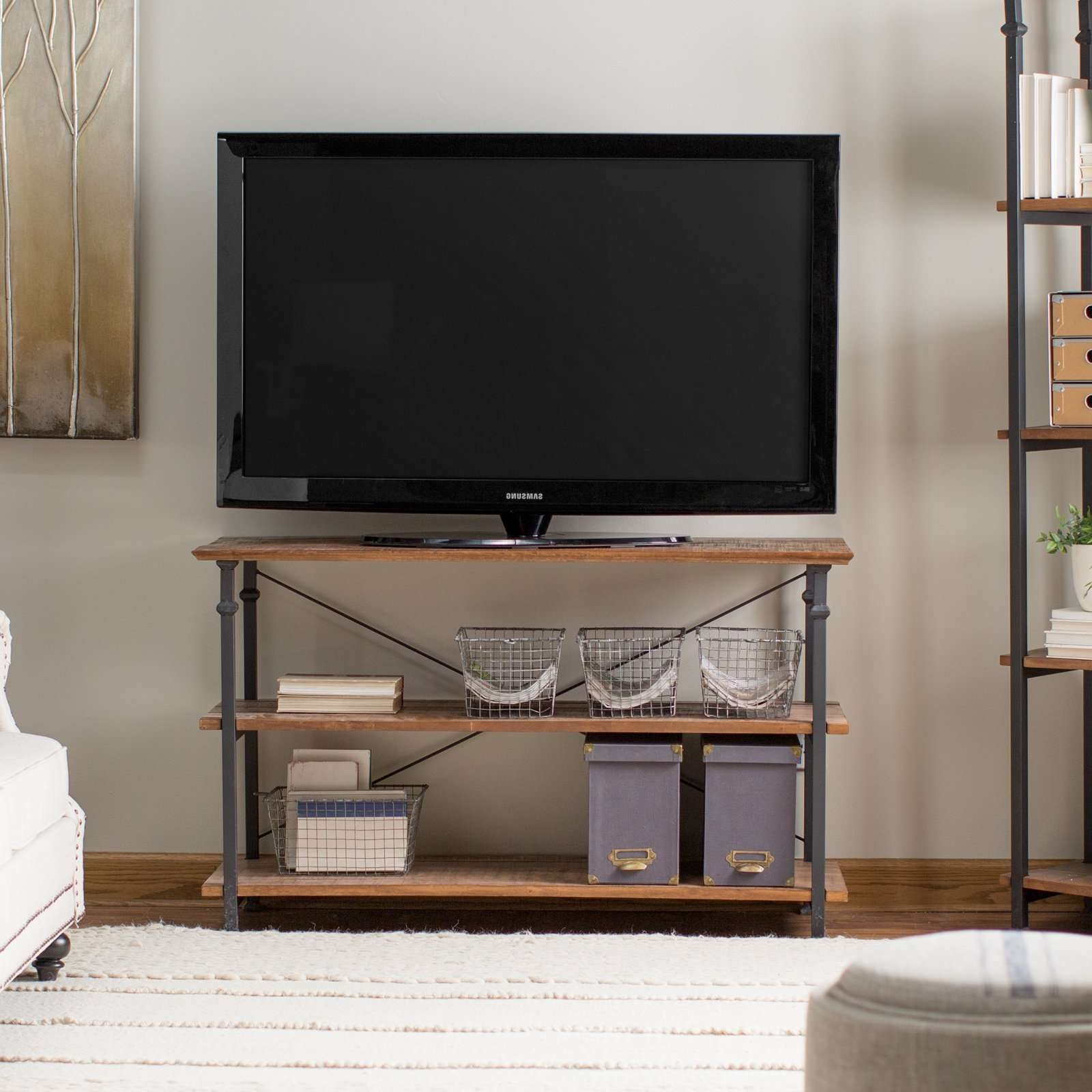 Weston Home Factory Tv Stand – Walmart Within Open Shelf Tv Stands (View 8 of 15)