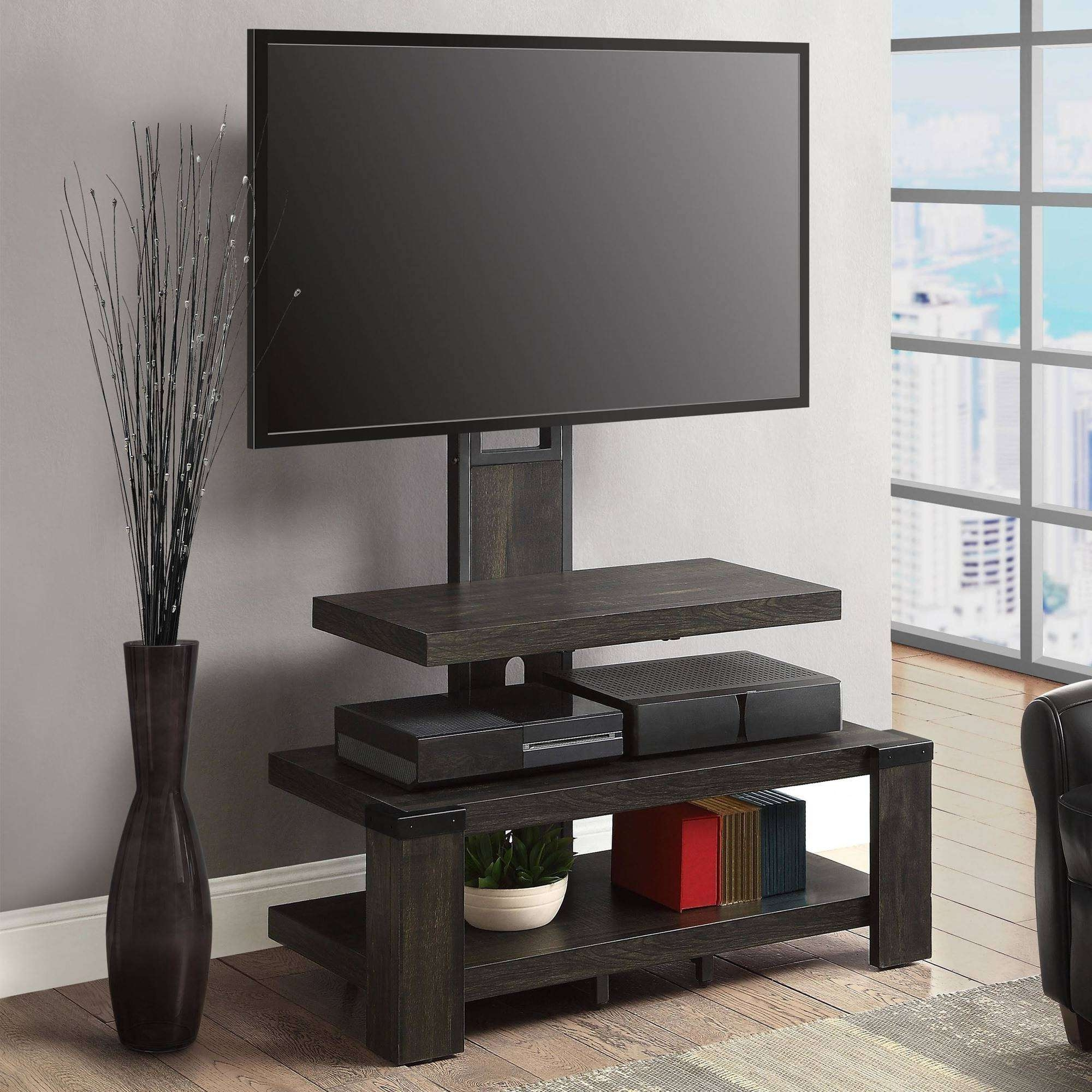 "Whalen 3 Shelf Tv Stand With Mount For Tv's Up To 54"" – Walmart With Tv Stands With Mount (View 14 of 15)"