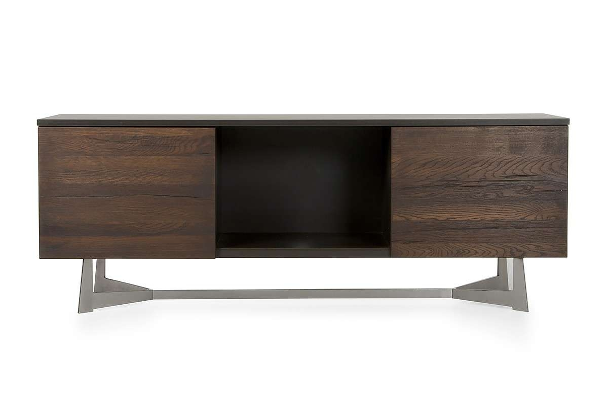 Wharton Modern Dark Aged Oak Tv Stand Throughout Modern Wood Tv Stands (View 14 of 15)