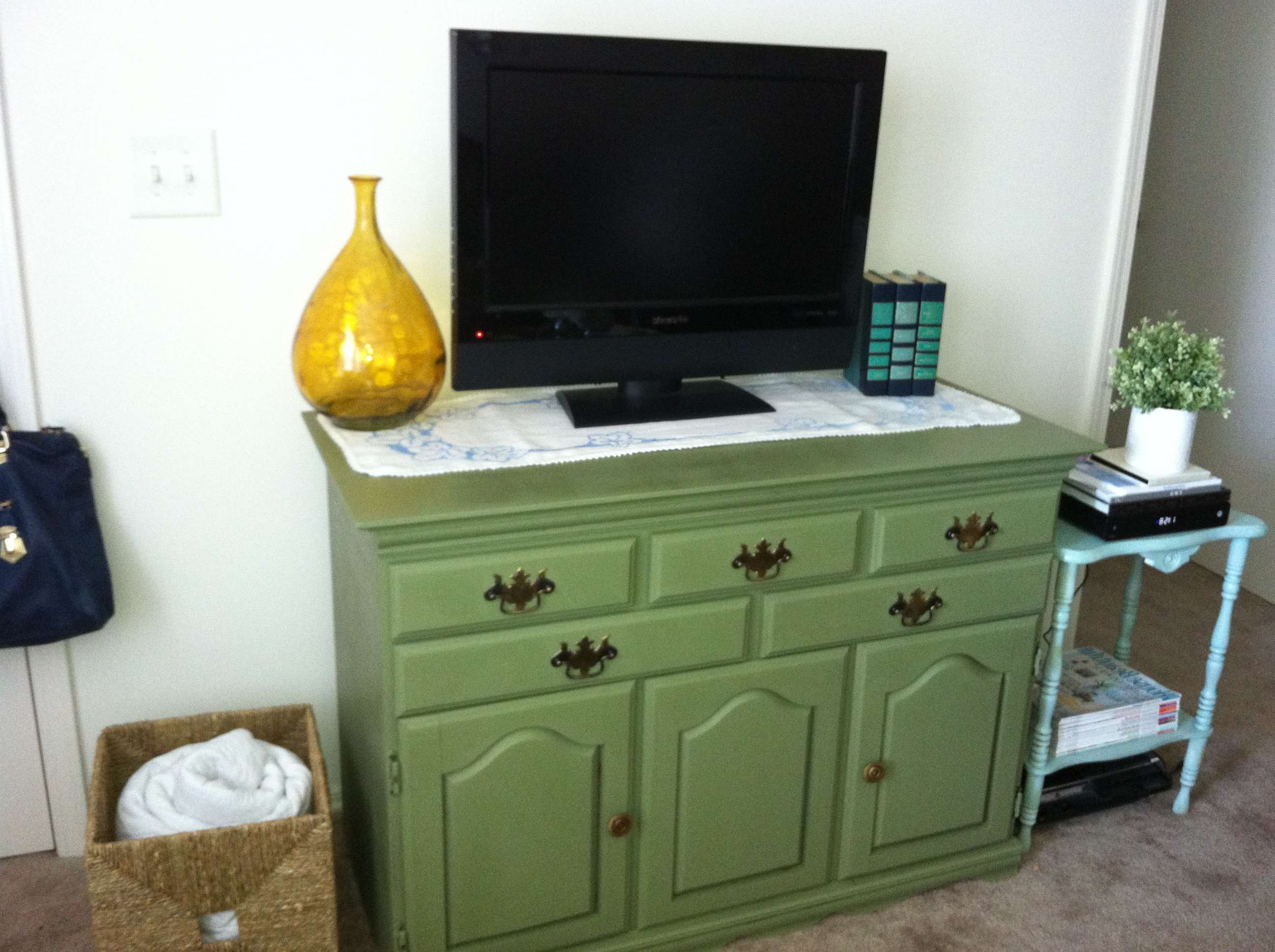 While The Husband Is Away… Pertaining To Green Tv Stands (View 15 of 15)