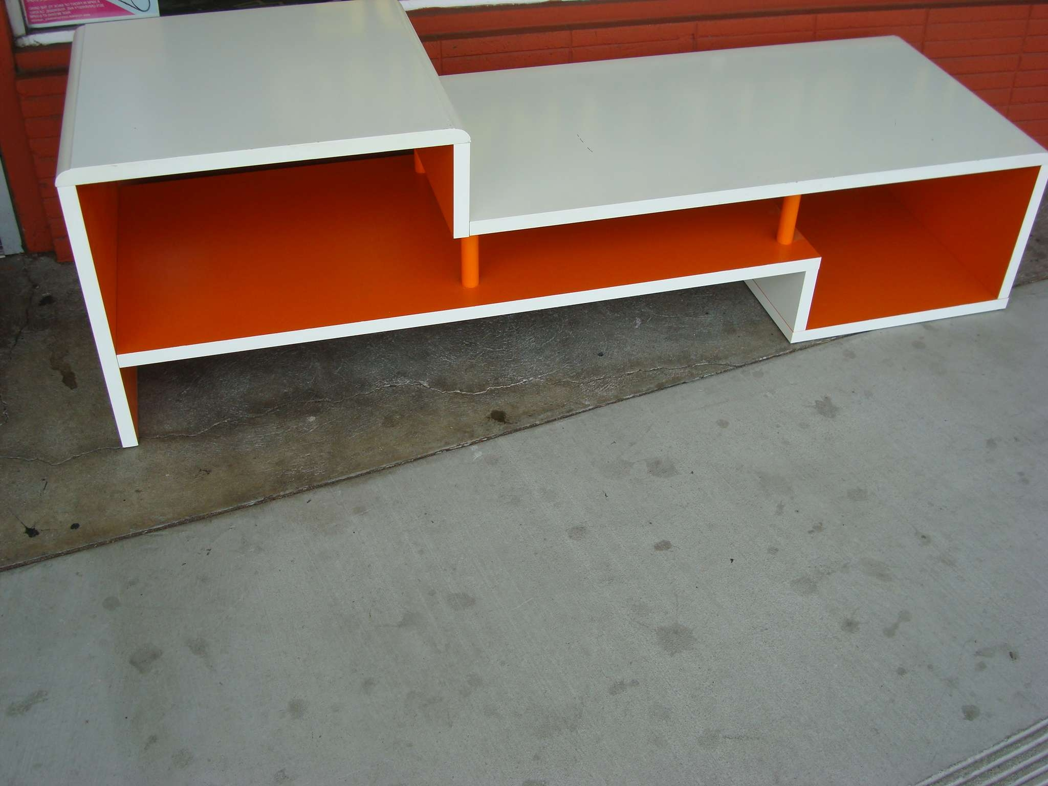 White And Orange Tv Stand/table $ (View 15 of 15)