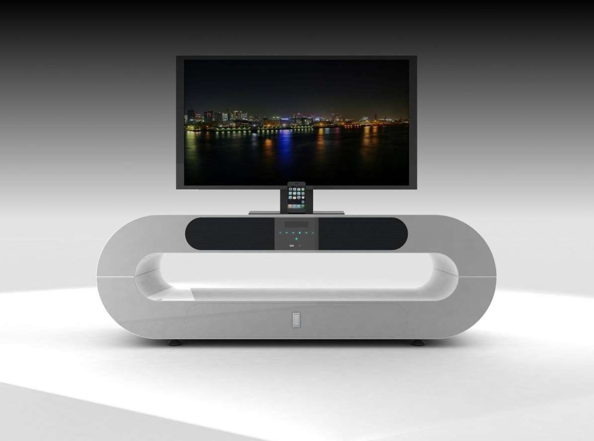 White Contemporary Tv Stand : All Contemporary Tv Stands Ideas Pertaining To White Contemporary Tv Stands (View 5 of 15)