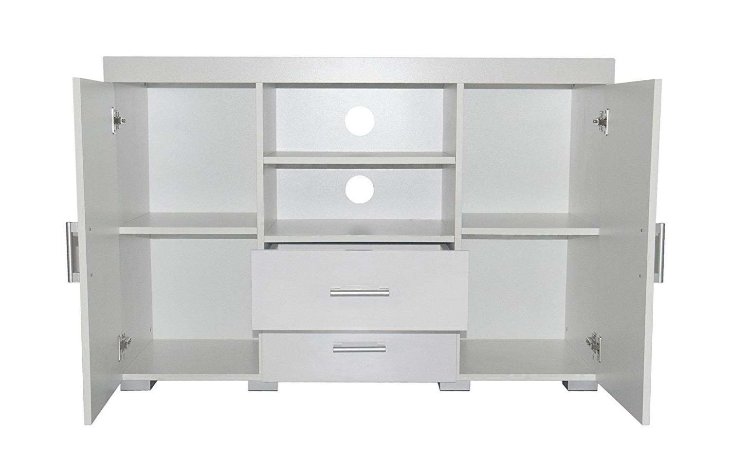 White High Gloss Tv Stand Entertainment Centre Sideboard 2 Doors 2 Regarding White Tall Tv Stands (View 14 of 15)