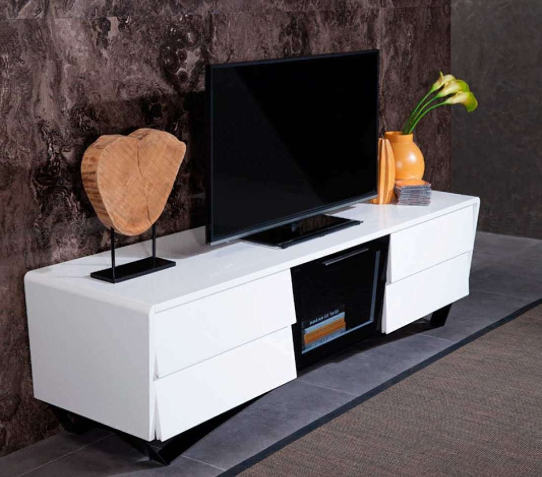 White High Gloss Tv Stand Vg 102 | Tv Stands For White Gloss Tv Stands With Drawers (View 5 of 15)