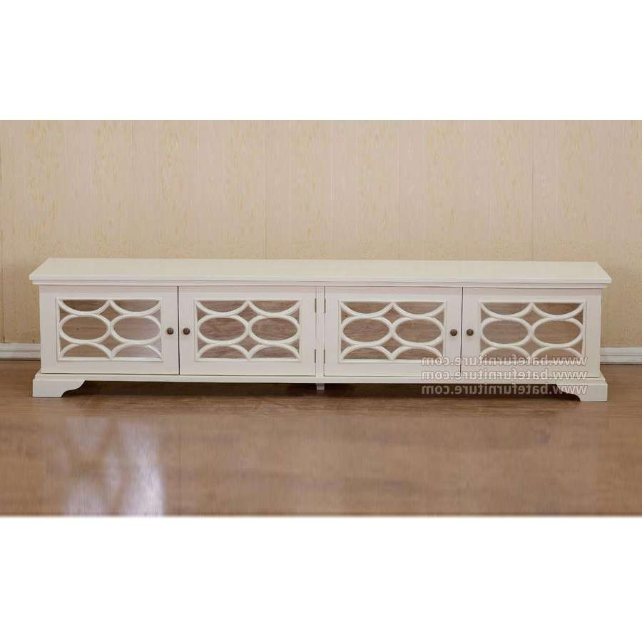 White Tv Cabinet 210 – Indonesian French Furniture | Teak Outdoor In White Painted Tv Cabinets (View 20 of 20)