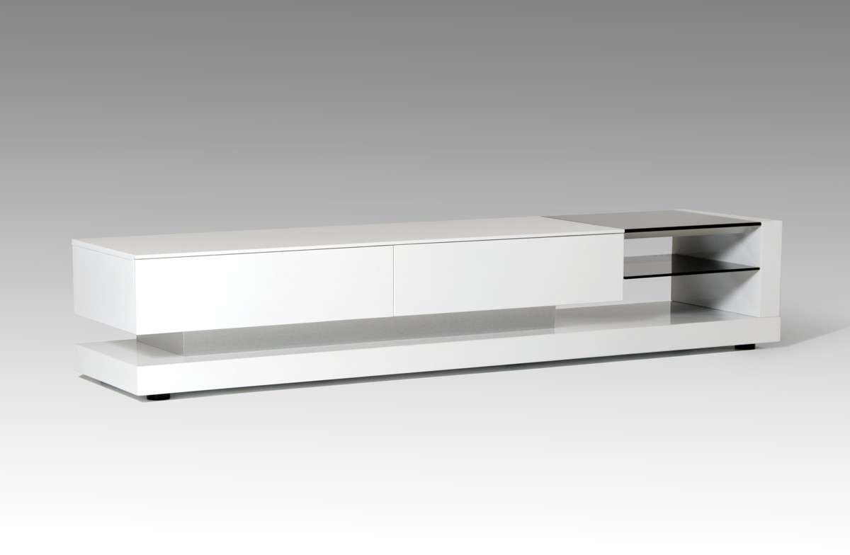 White Tv Stand And Long Tv Stand Also Modern Tv Stands Made Of Regarding White Glass Tv Stands (View 14 of 15)