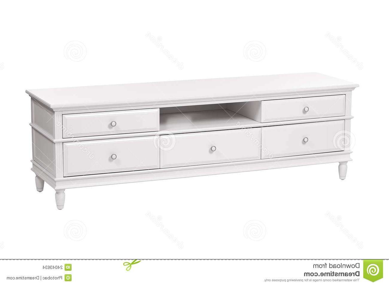 White Wooden Tv Stand (chest Of Drawers) Stock Photo – Image: 24043634 Regarding White Wooden Tv Stands (View 9 of 20)