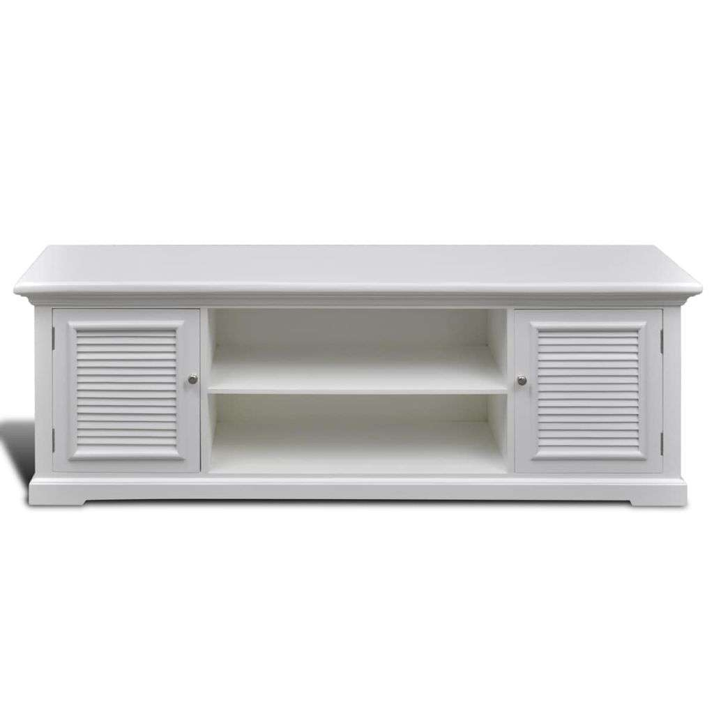 White Wooden Tv Stand | Vidaxl Within White And Wood Tv Stands (View 15 of 15)